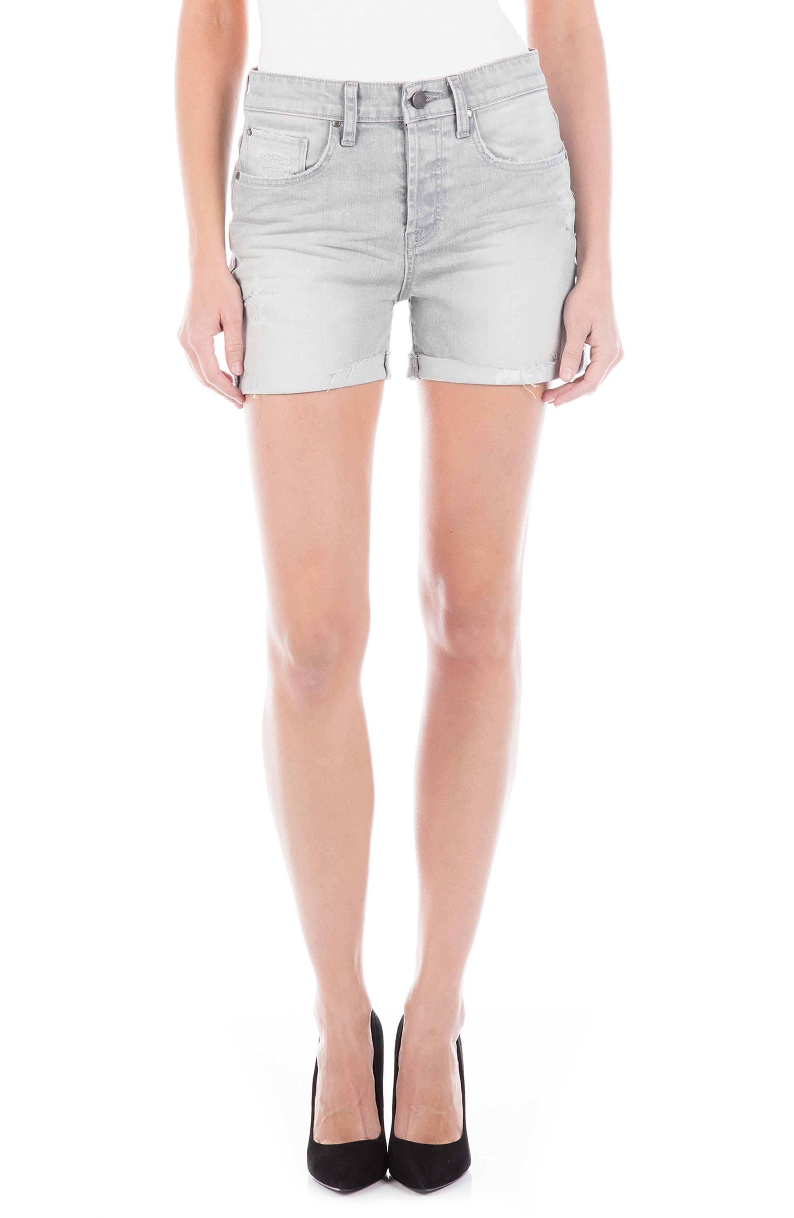 Jonesy High Waist Denim Shorts,                         Main,                         color, MERCURY VINTAGE