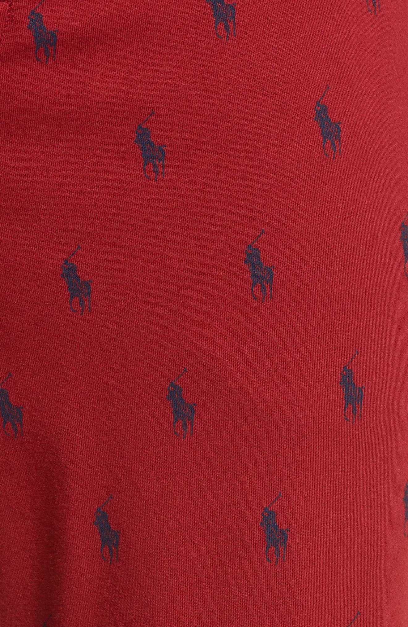 Cotton Lounge Pants,                             Alternate thumbnail 5, color,                             HOLIDAY RED/ CRUISE NAVY