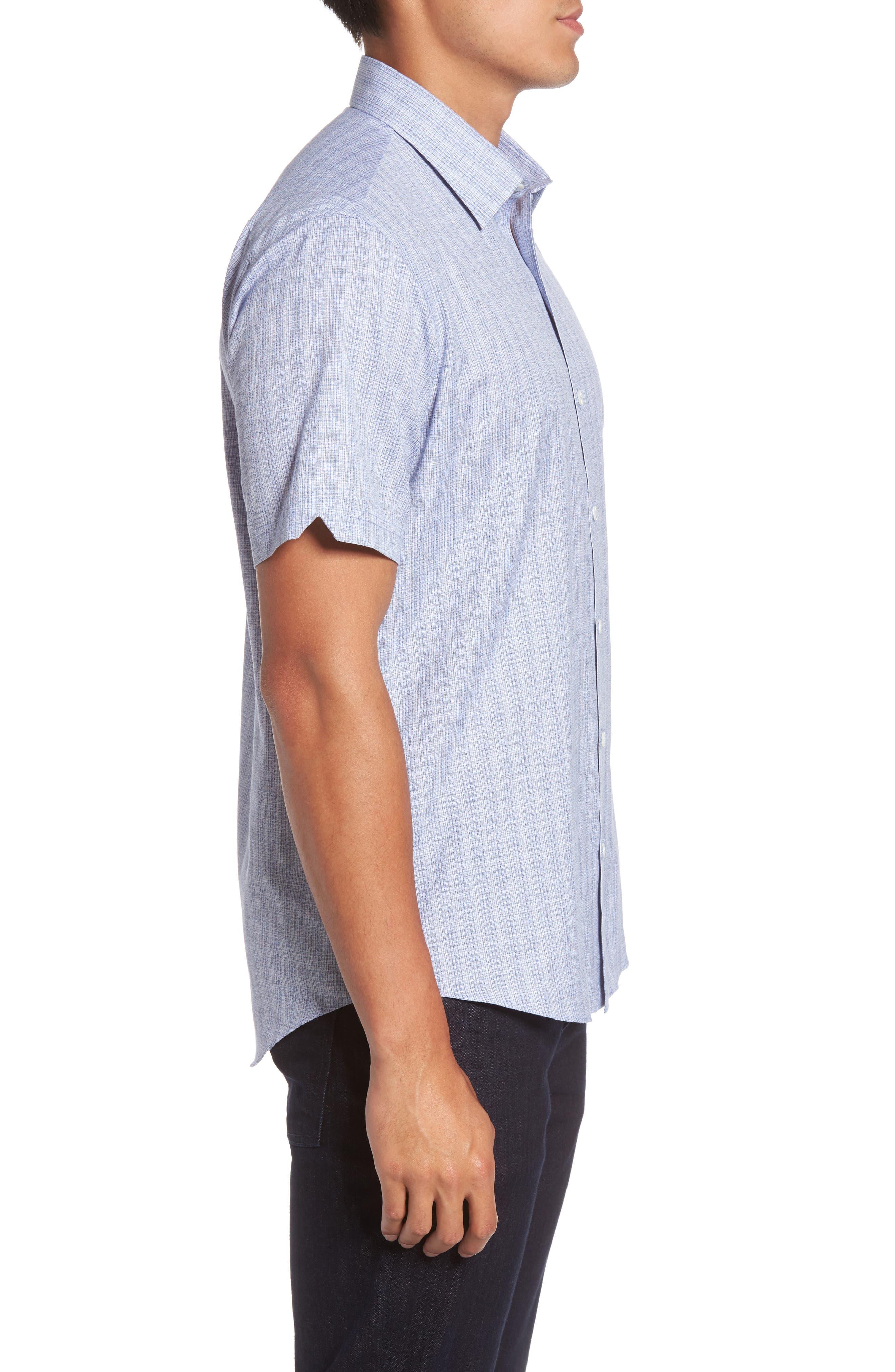 Zimmerman Check Sport Shirt,                             Alternate thumbnail 3, color,                             400