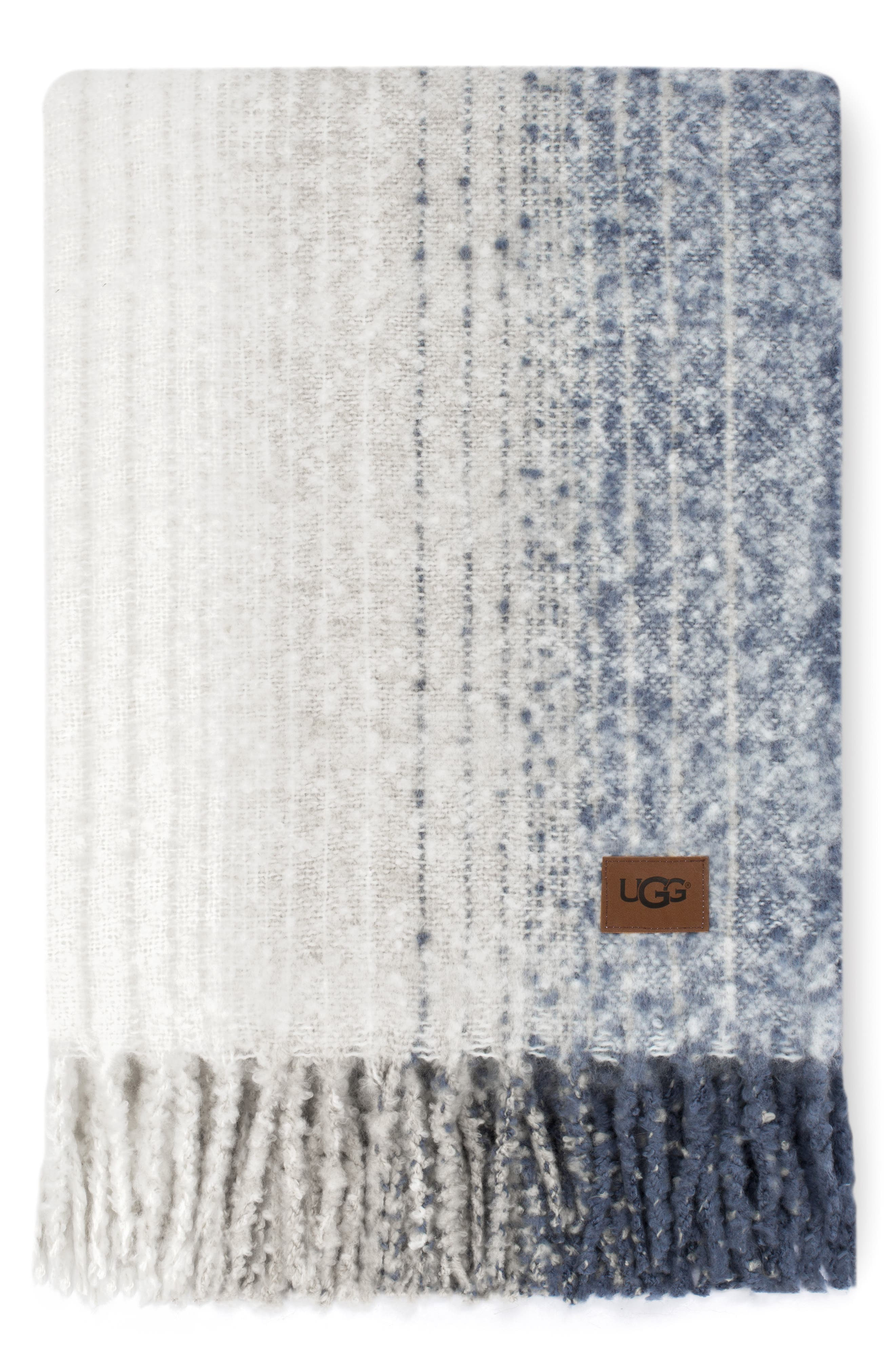 Moonlight Throw Blanket,                             Main thumbnail 1, color,                             STONE/DENIM