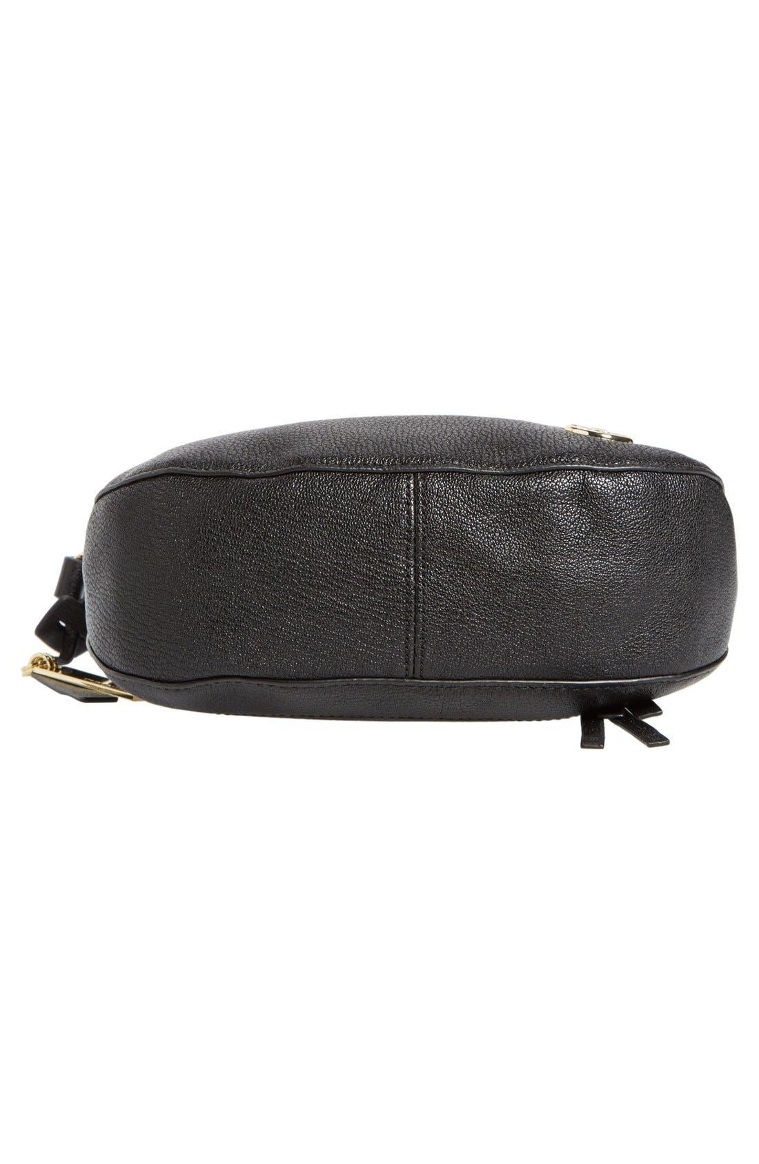 'Tala' Leather Crossbody Bag,                             Alternate thumbnail 4, color,                             001