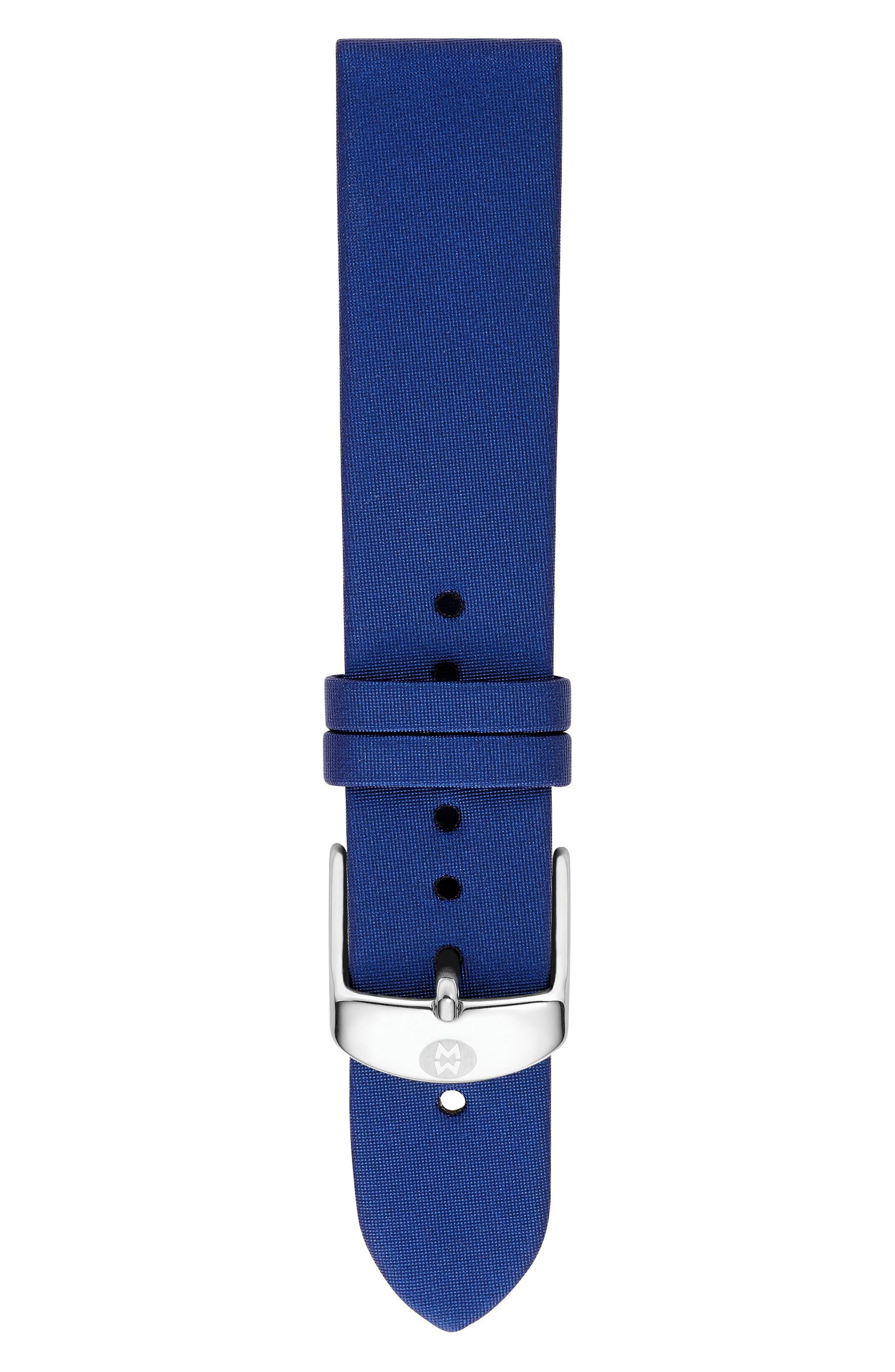 16mm Satin Watch Strap,                         Main,                         color, 400