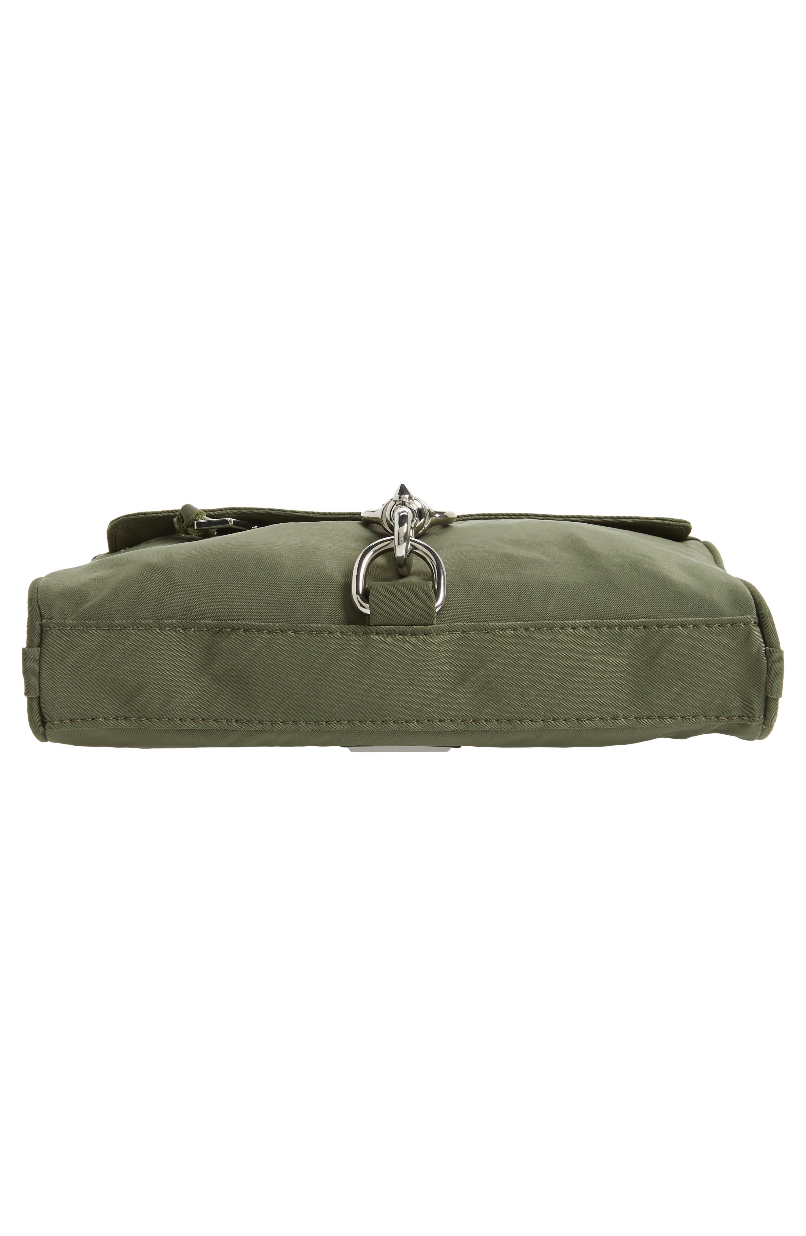 Mini Mac Convertible Crossbody Bag,                             Alternate thumbnail 6, color,                             OLIVE