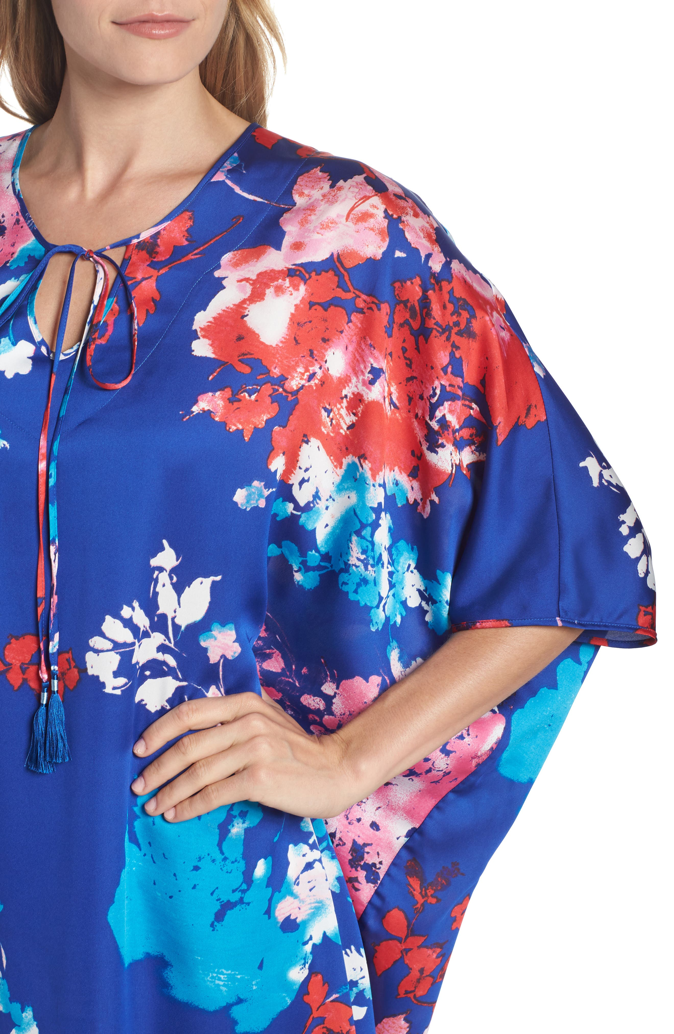 Fiji Print Caftan,                             Alternate thumbnail 4, color,                             405