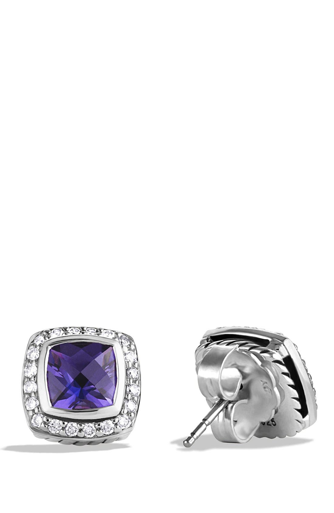 'Albion' Petite Earrings with Semiprecious Stones & Diamonds,                             Alternate thumbnail 8, color,