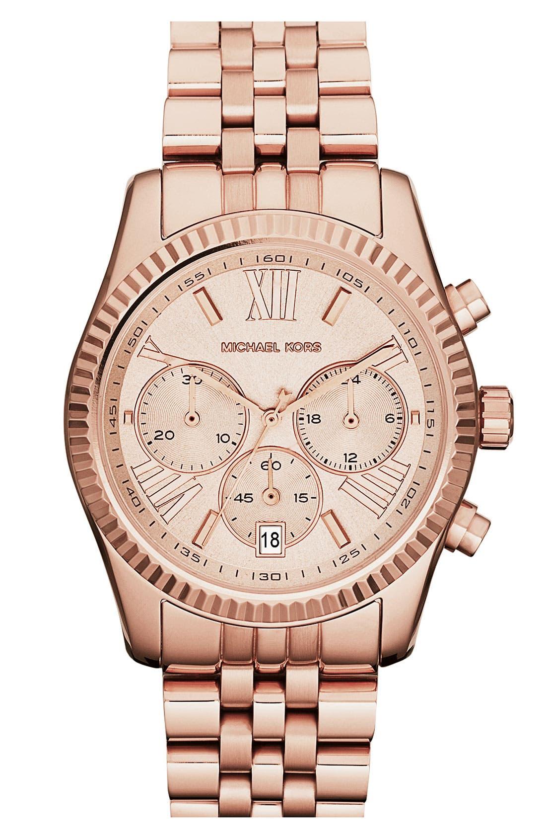 'Lexington' Chronograph Bracelet Watch, 38mm,                             Main thumbnail 9, color,