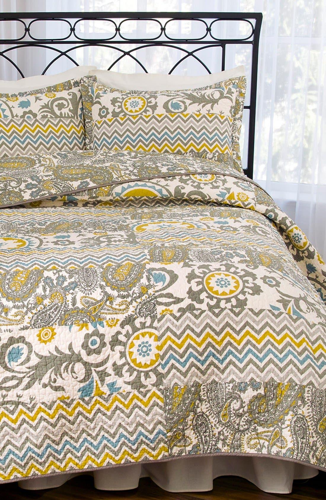 HEDAYA HOME FASHIONS,                             'Verano' Quilt,                             Alternate thumbnail 2, color,                             020