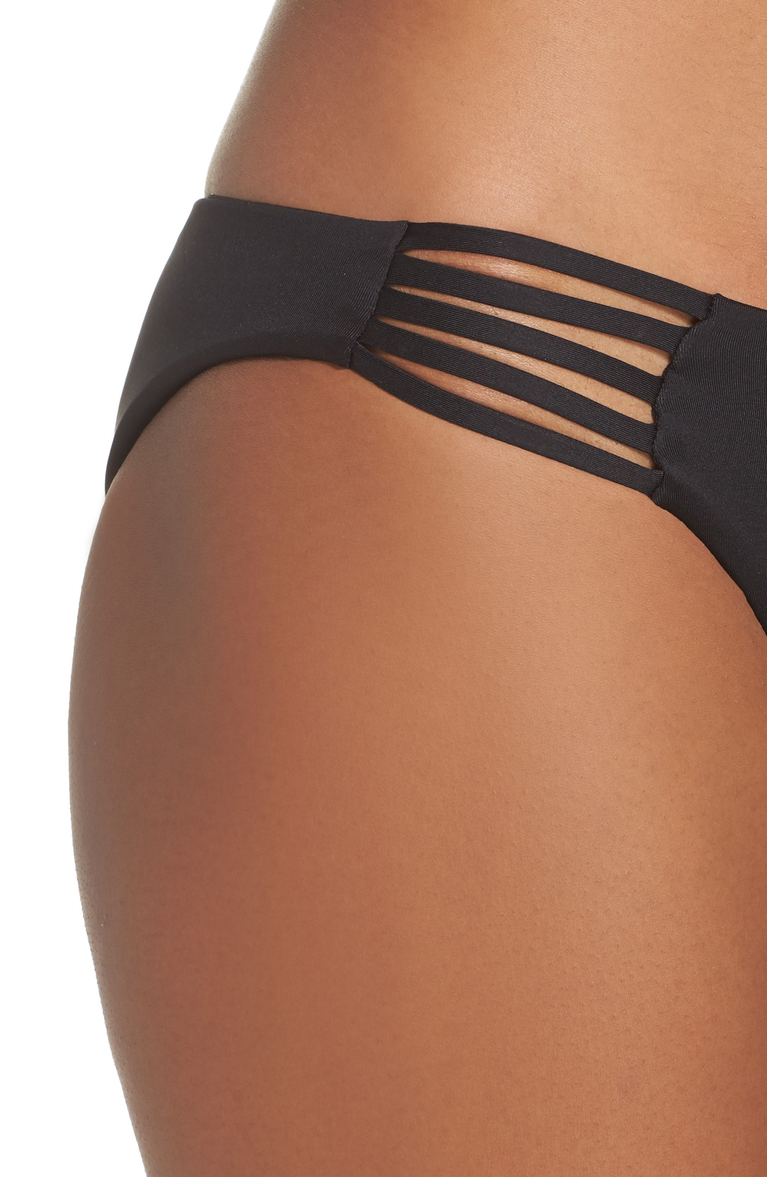 Seaglass Bay Reversible Bikini Bottoms,                             Alternate thumbnail 4, color,                             BLACK