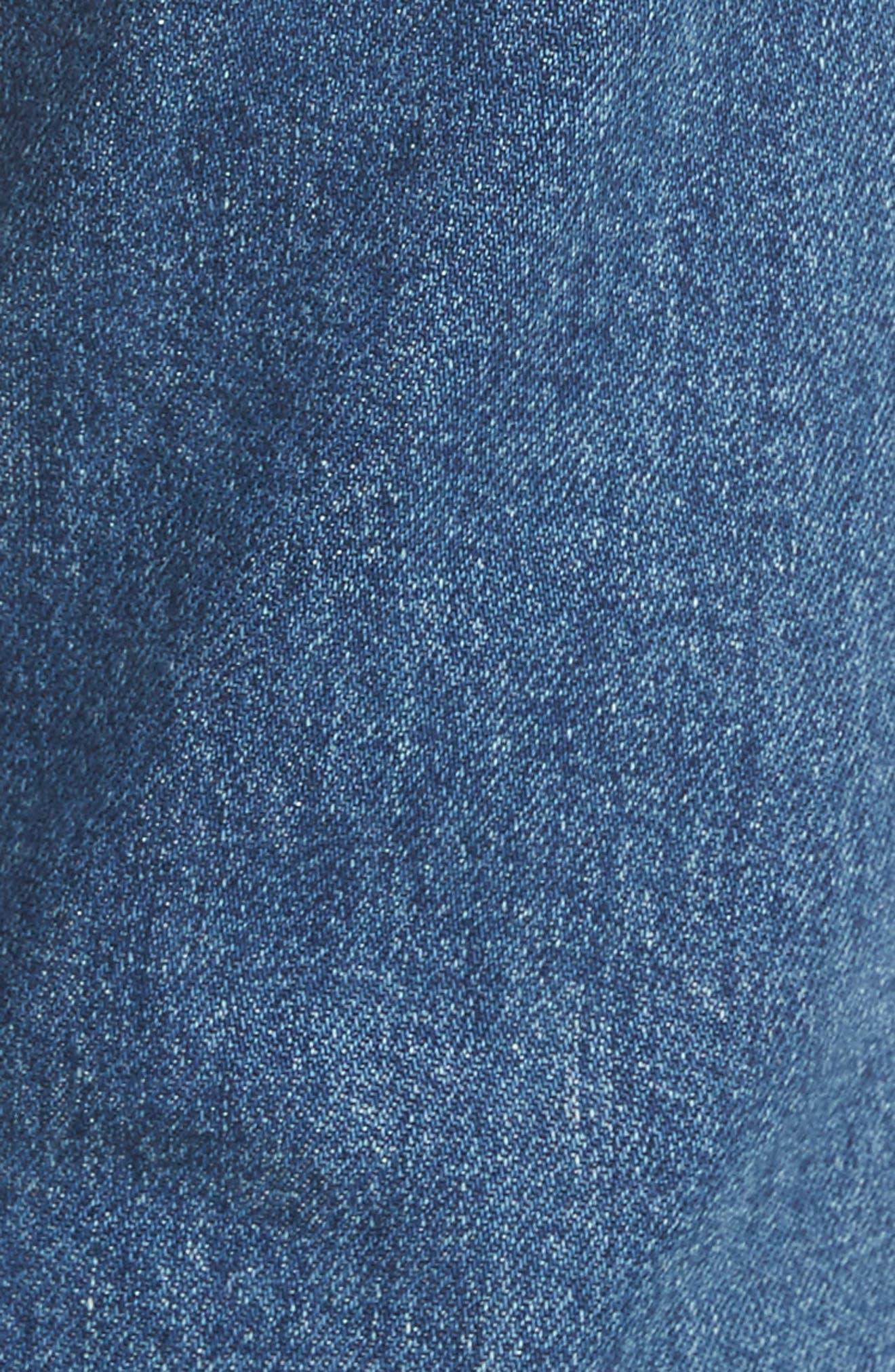 The Dutchie Crop Straight Leg Jeans,                             Alternate thumbnail 5, color,                             413