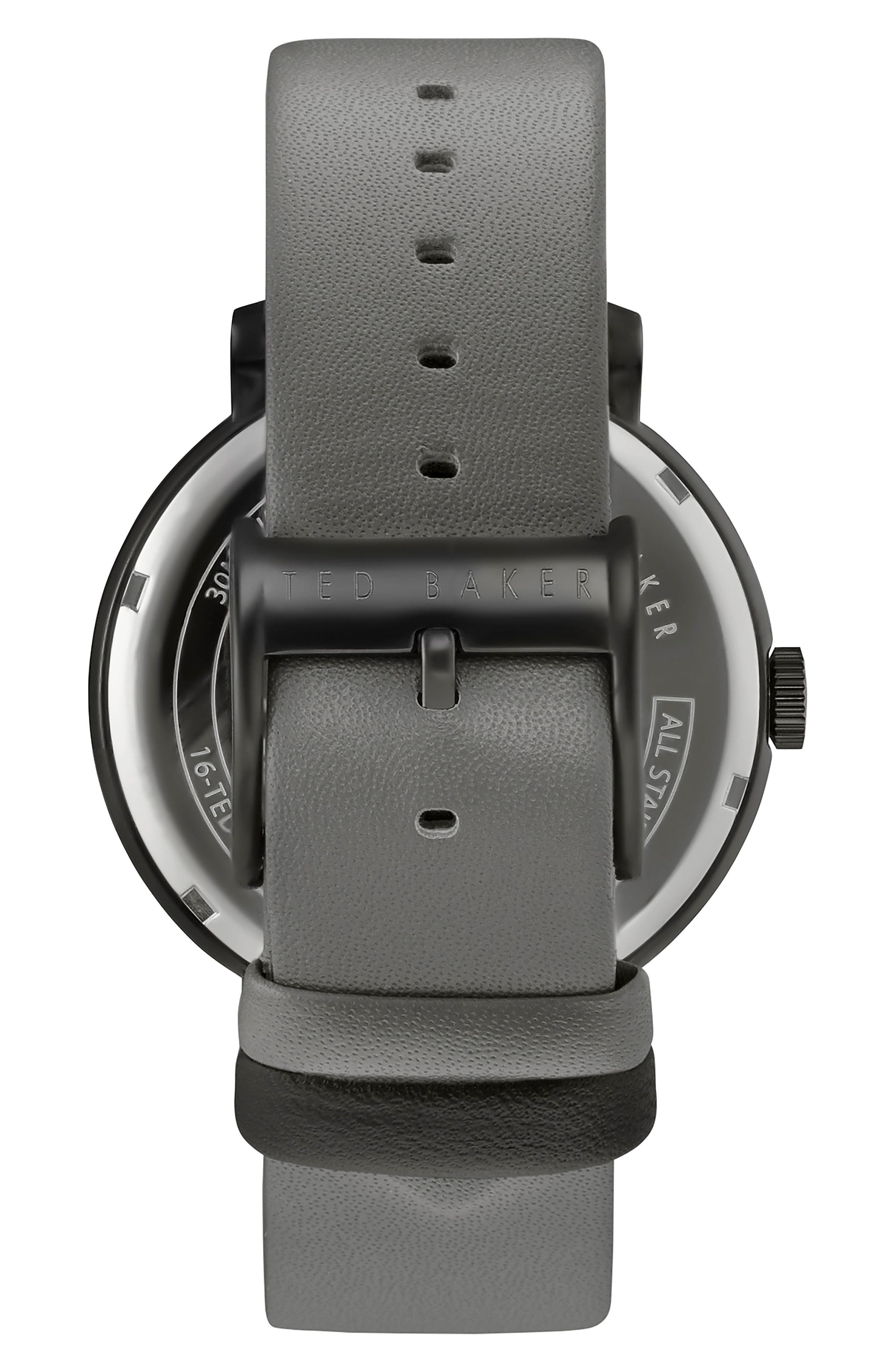 Oliver Leather Strap Watch, 42mm,                             Alternate thumbnail 2, color,                             020