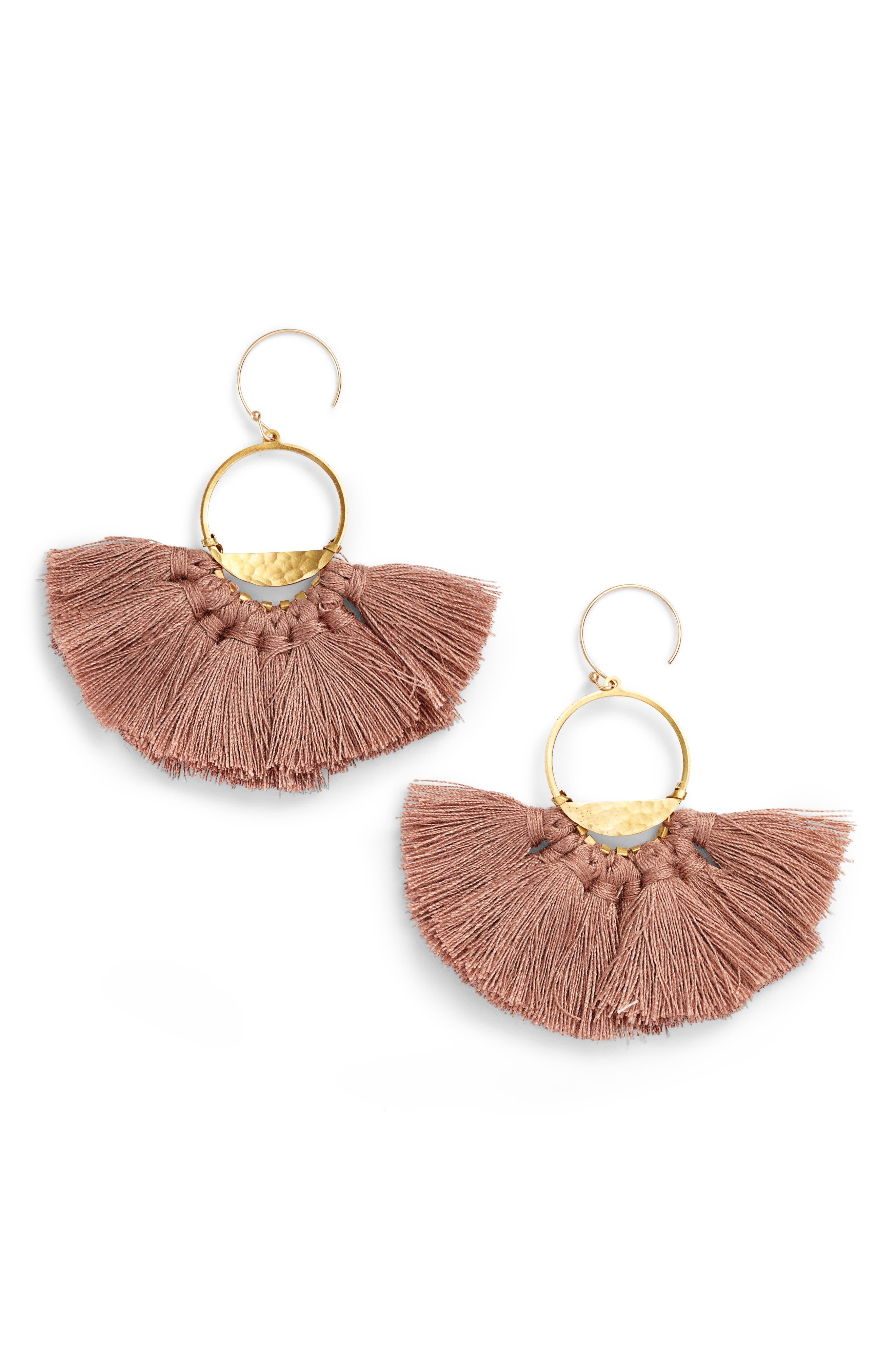 Flutter Tassel Earrings,                             Main thumbnail 3, color,