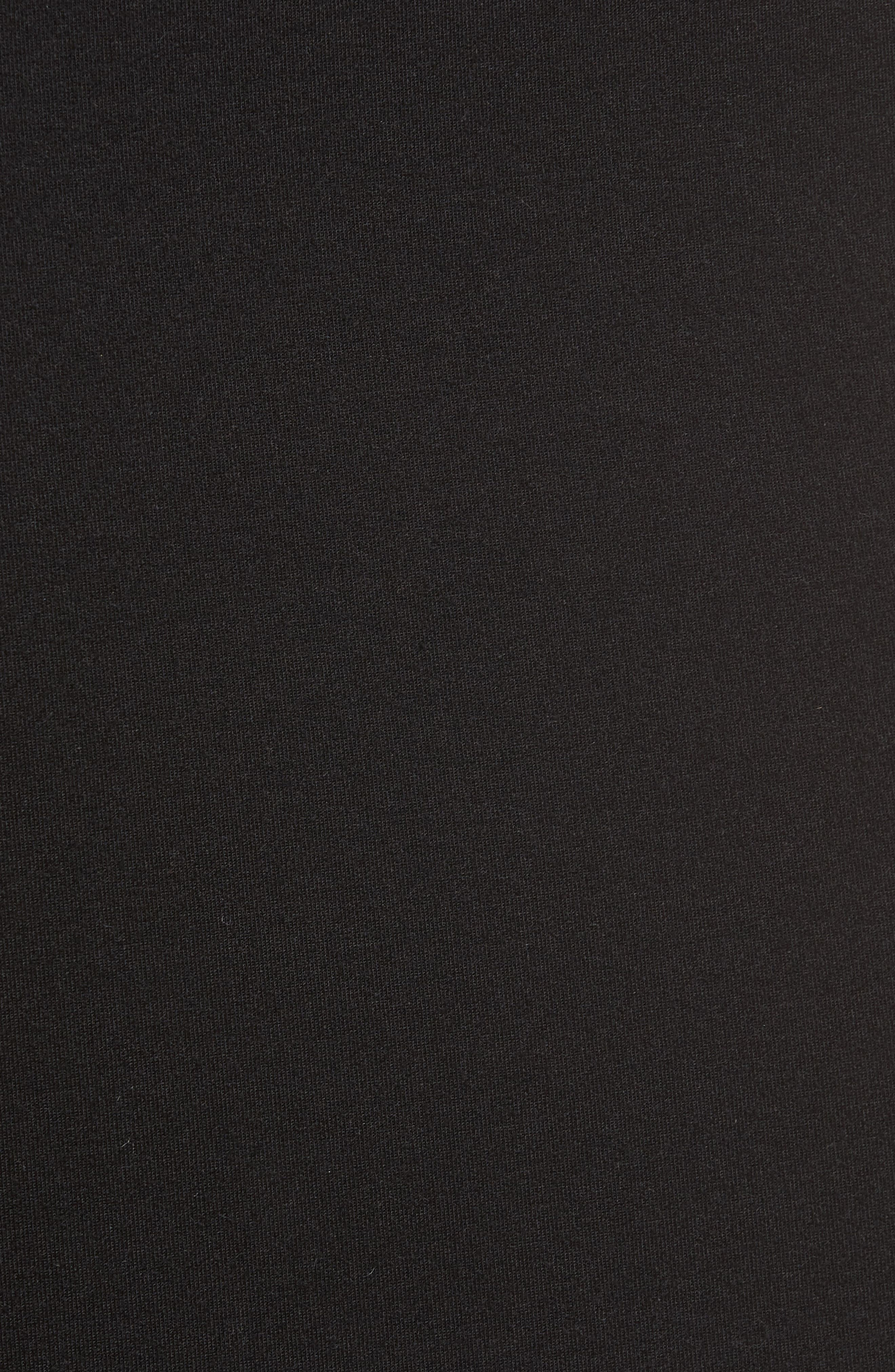 Slash Bonded Midi Skirt,                             Alternate thumbnail 5, color,                             001