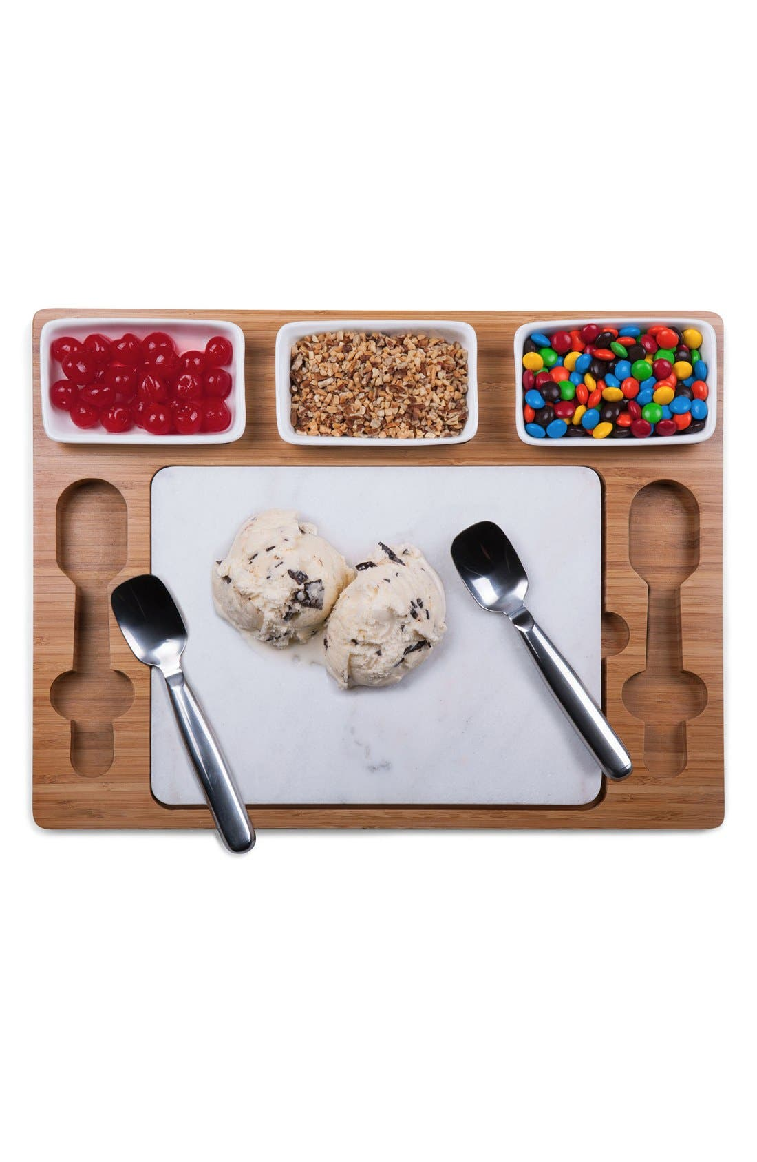 'Parlor' Ice Cream Mixing Set,                             Alternate thumbnail 2, color,                             BROWN
