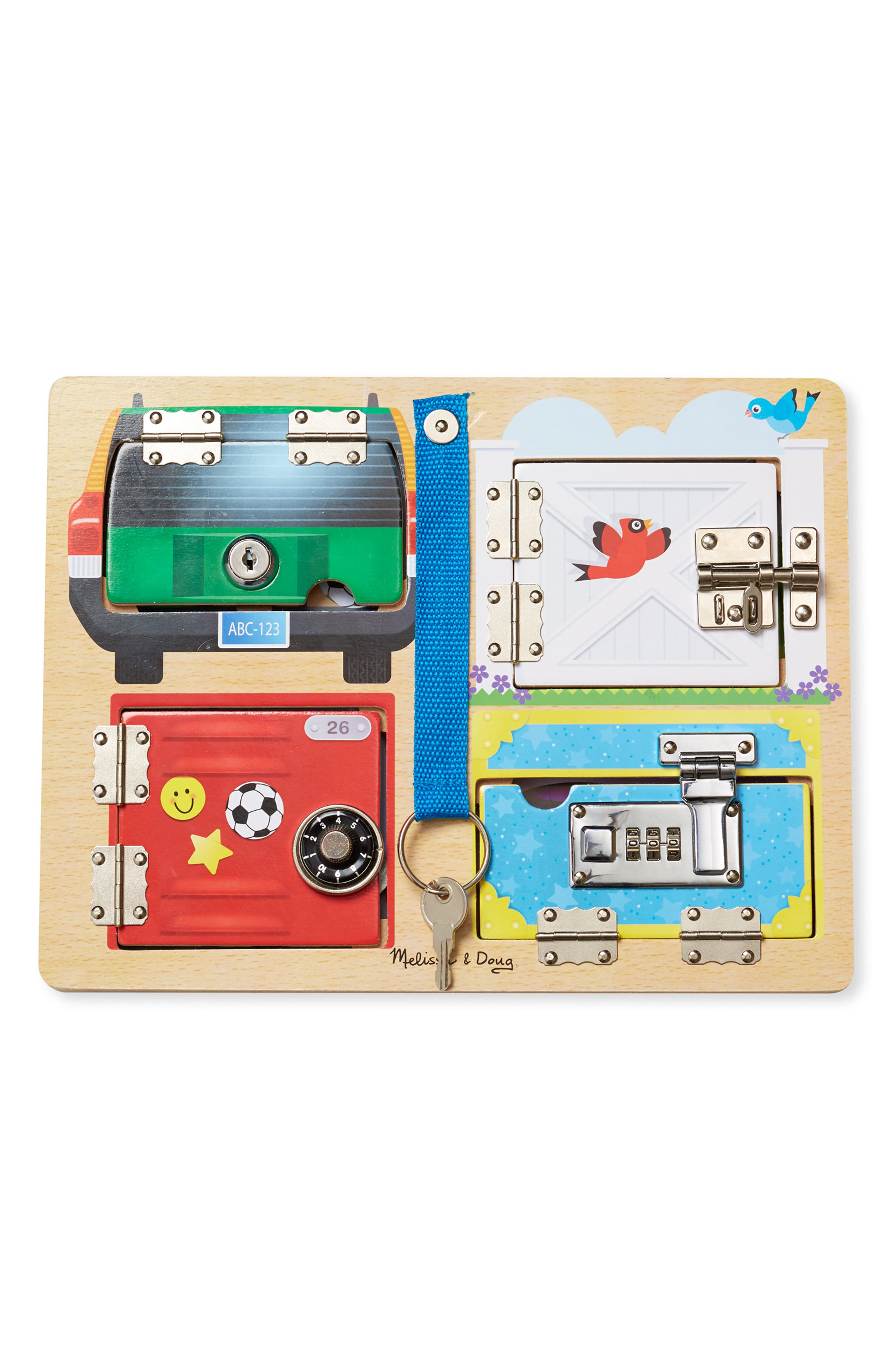 'Locks & Latches' Activity Board,                             Alternate thumbnail 3, color,                             BROWN