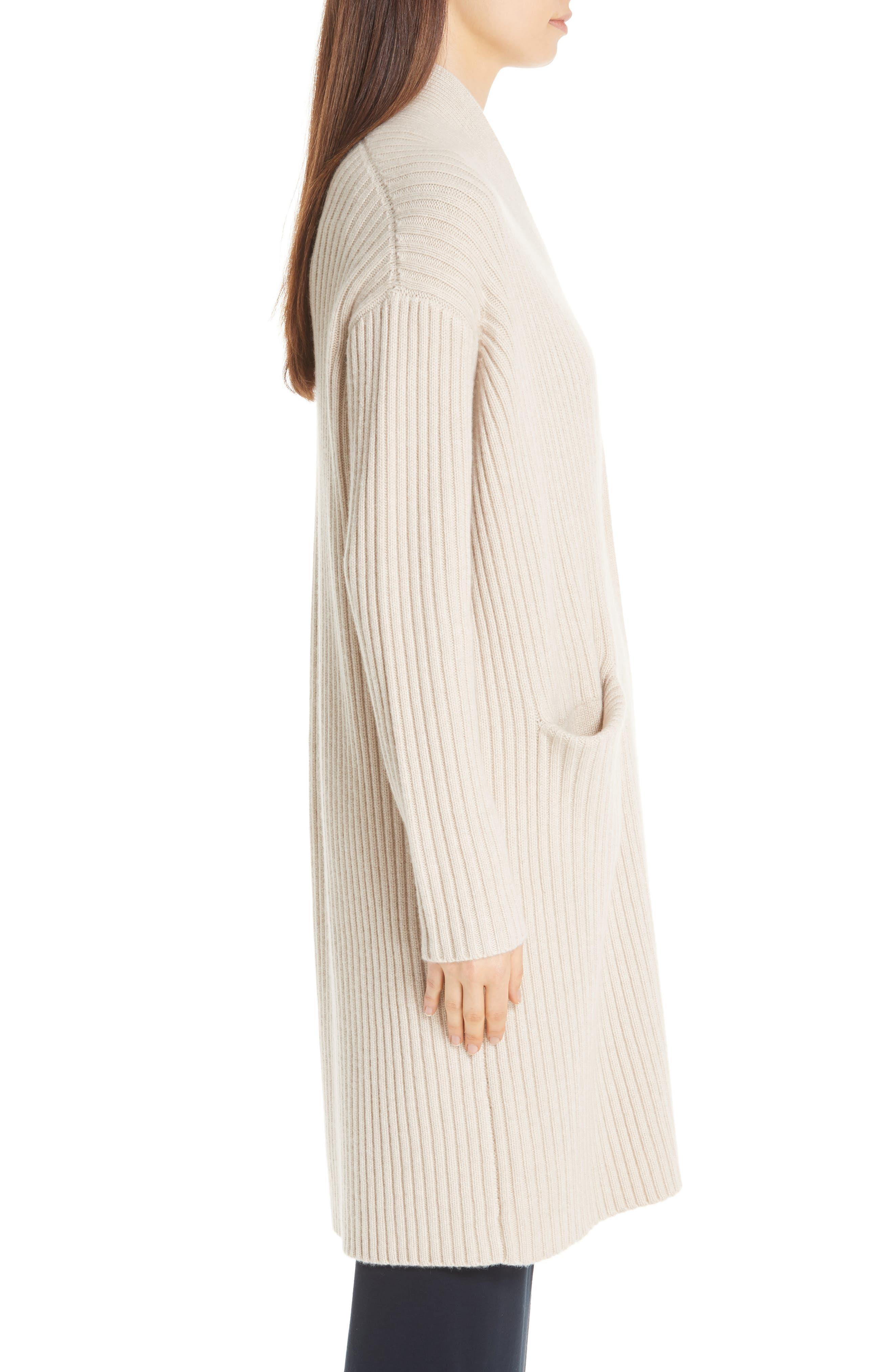 Lia Cashmere & Merino Wool Sweater,                             Alternate thumbnail 3, color,                             SAND