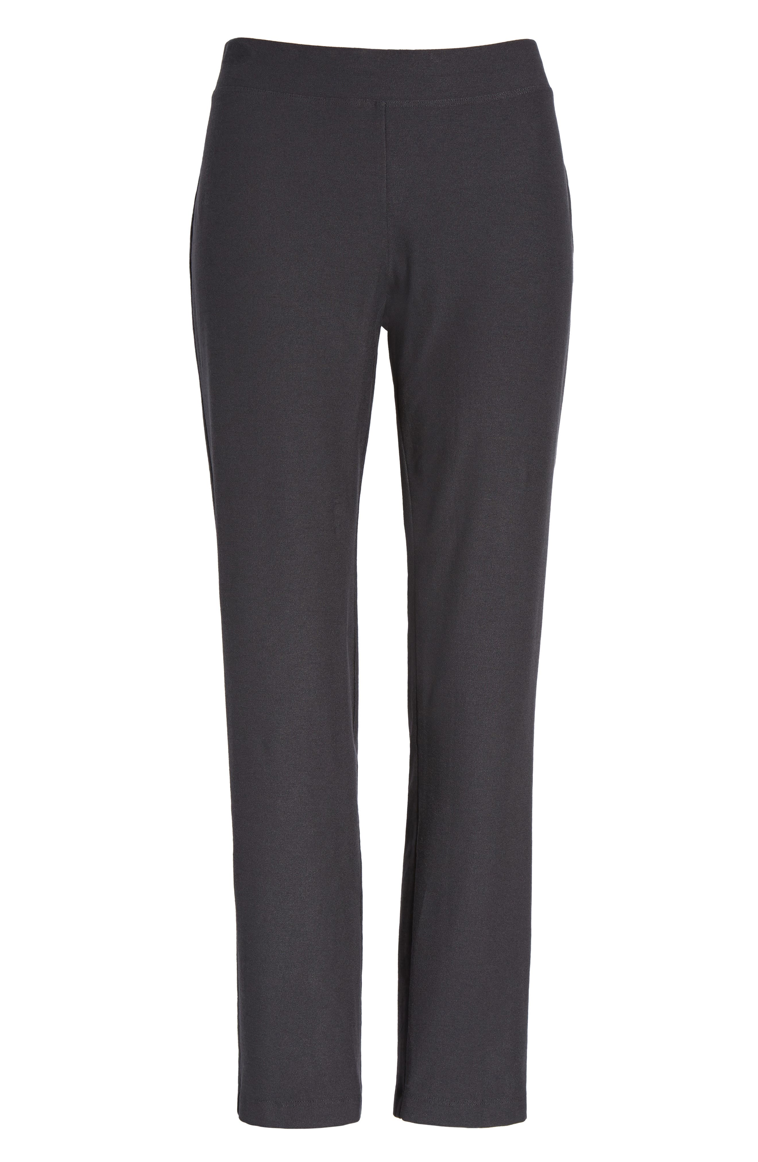 Stretch Crepe Ankle Pants,                             Alternate thumbnail 8, color,                             025