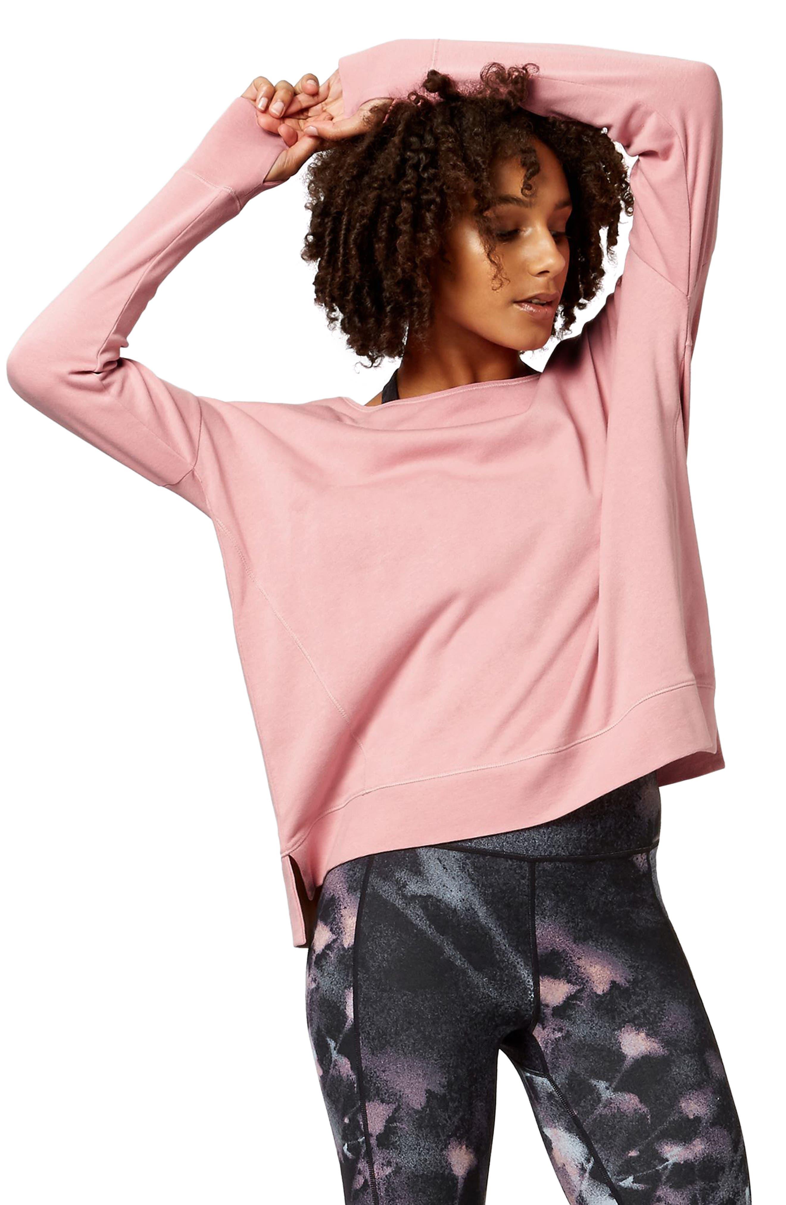 Simhasana Sweatshirt,                         Main,                         color, ROSE