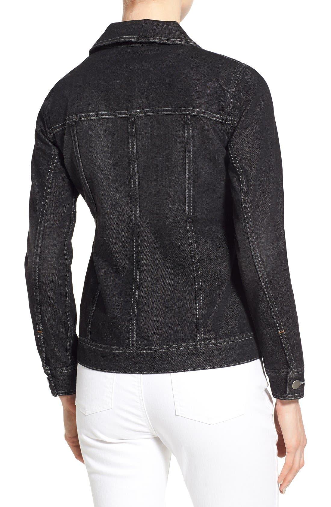 Denim Classic Collar Jacket,                             Alternate thumbnail 4, color,                             007