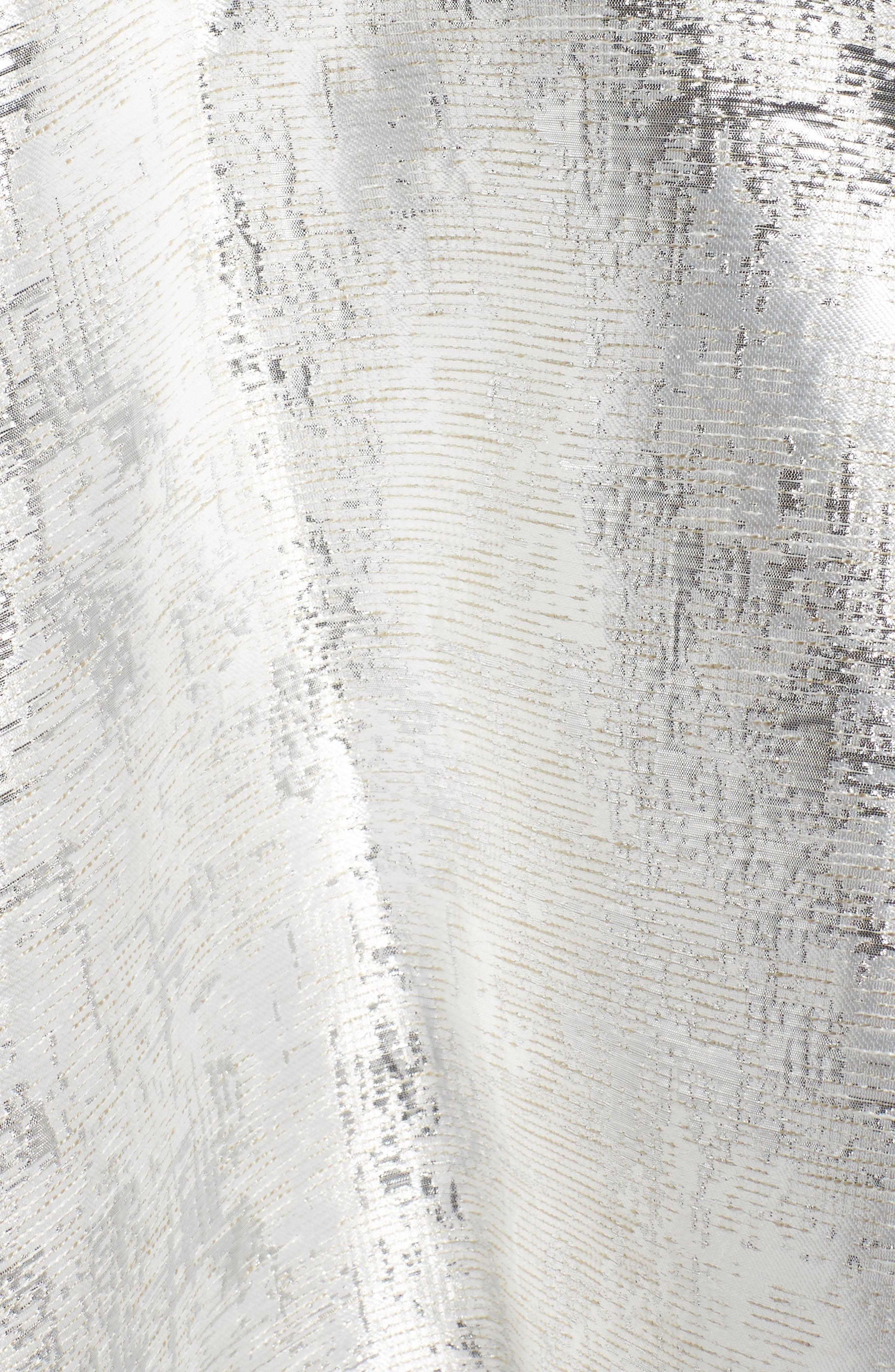 Embellished Metallic Fit & Flare Dress,                             Alternate thumbnail 5, color,                             044