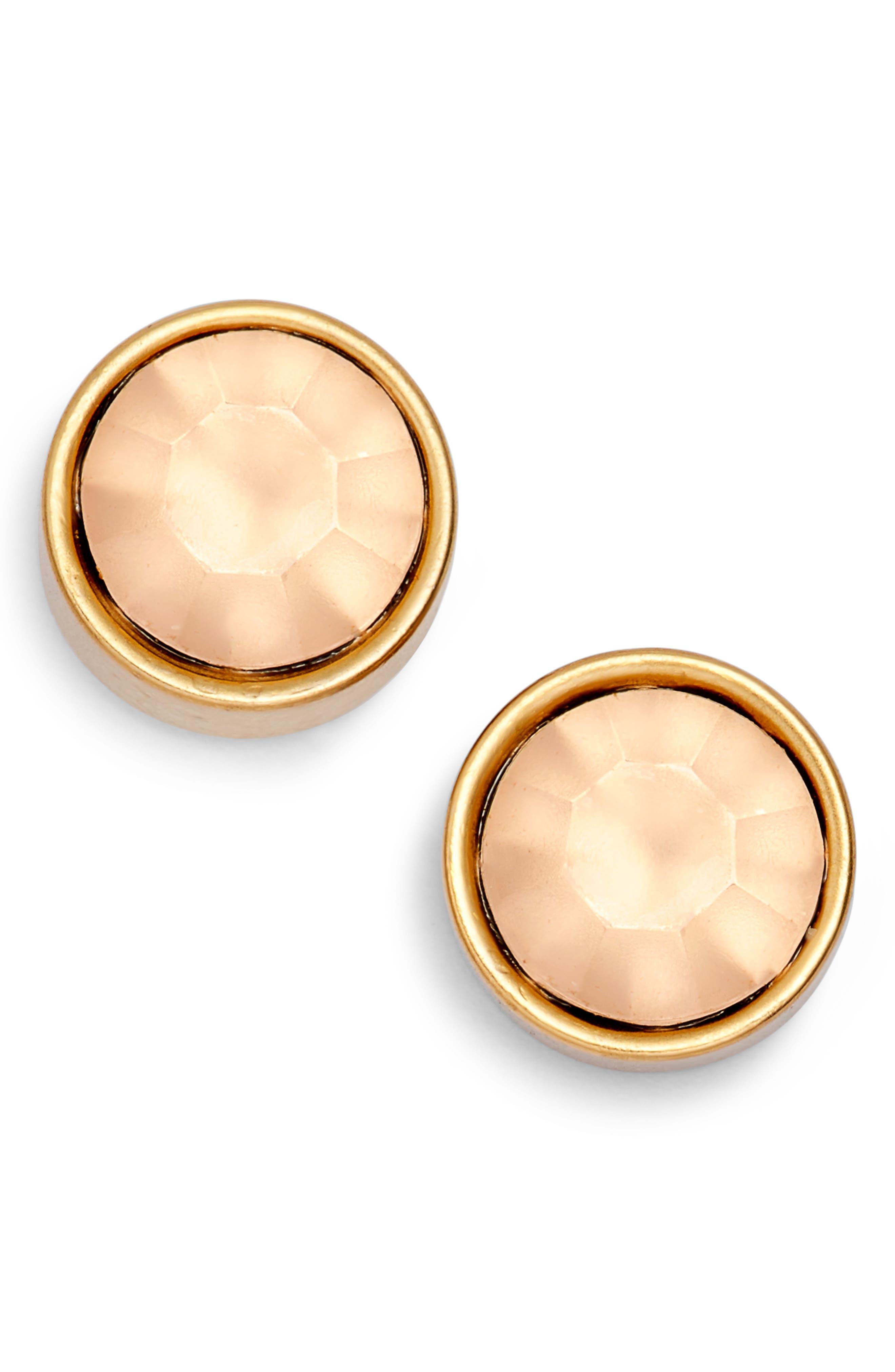 Bezel Set Stud Earrings,                             Main thumbnail 11, color,