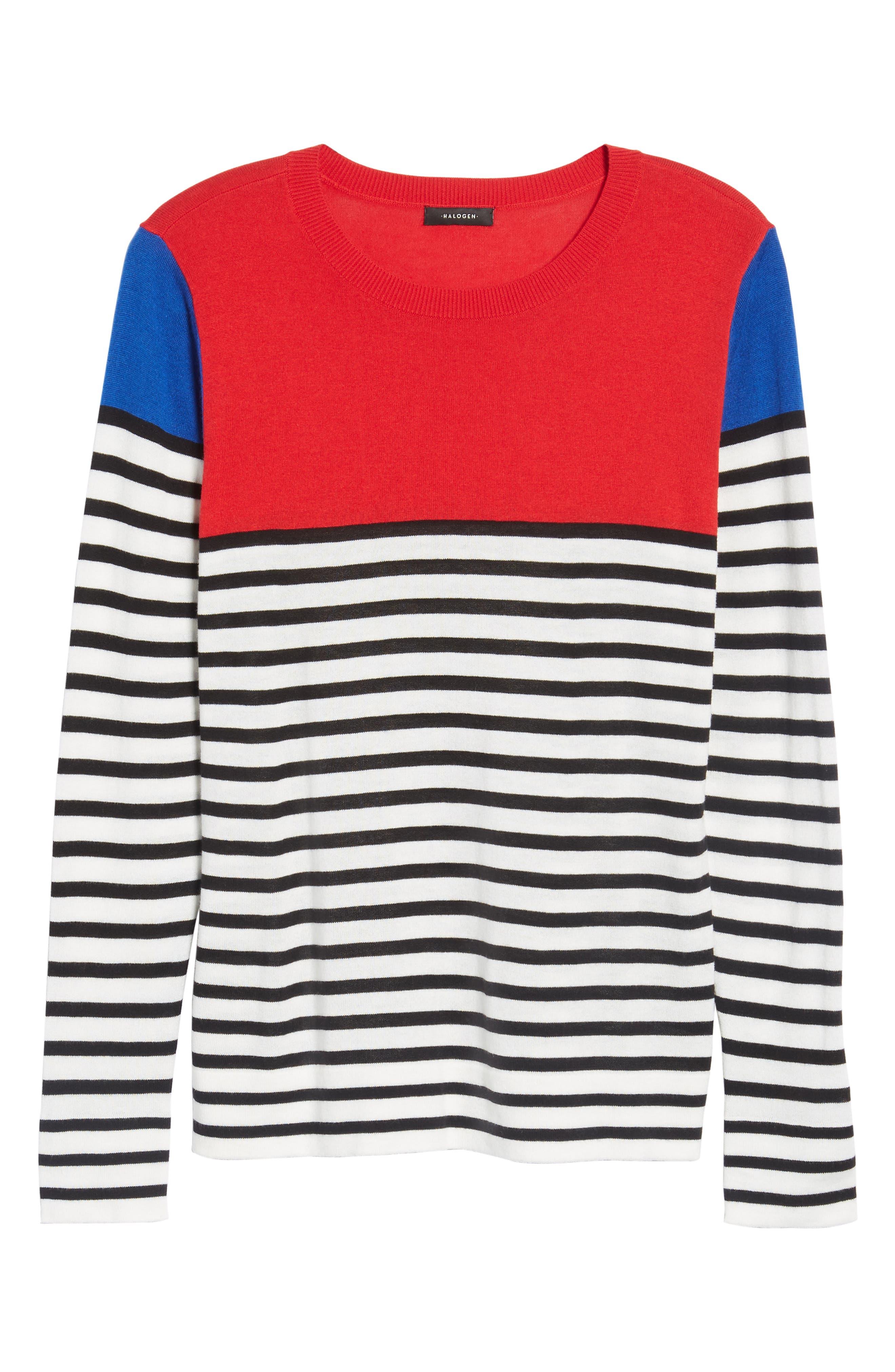 Colorblock Stripe Sweater,                             Alternate thumbnail 22, color,