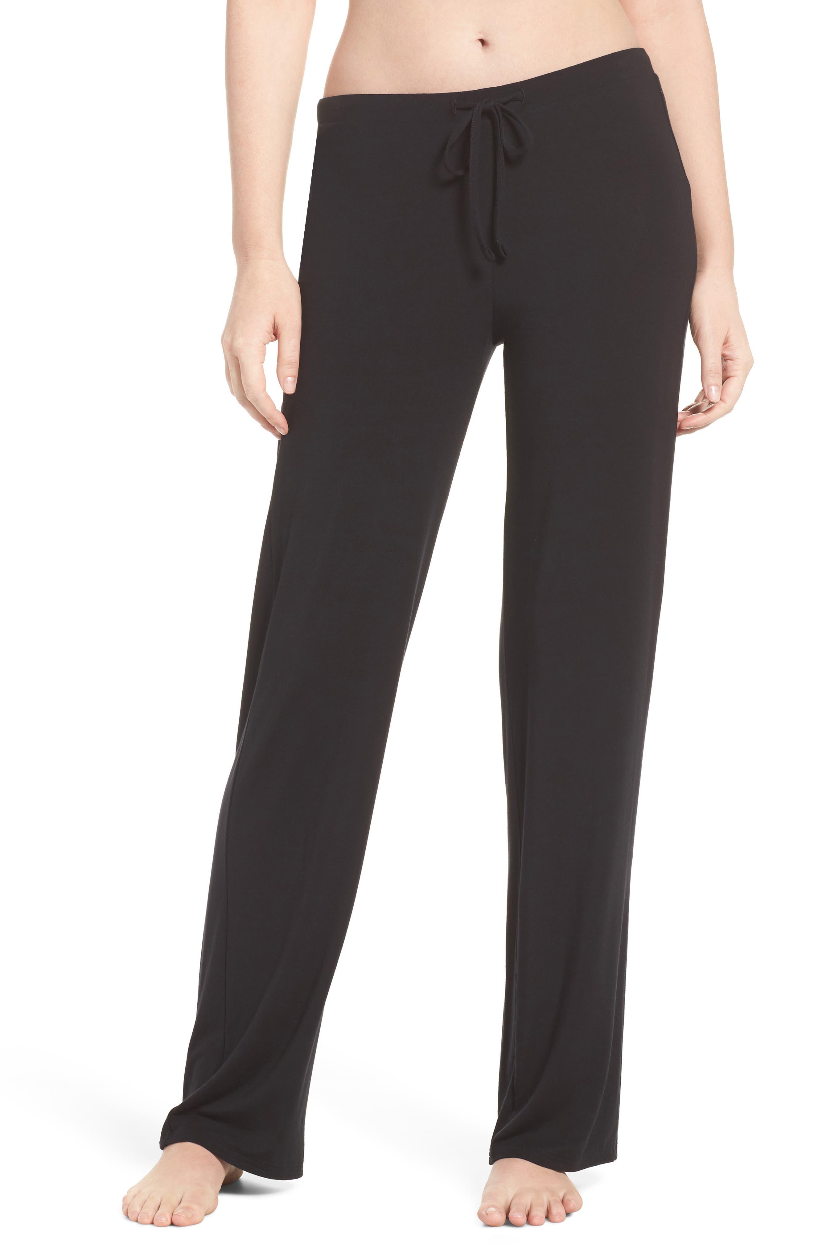 Breathe Stretch Modal Pants, Main, color, BLACK
