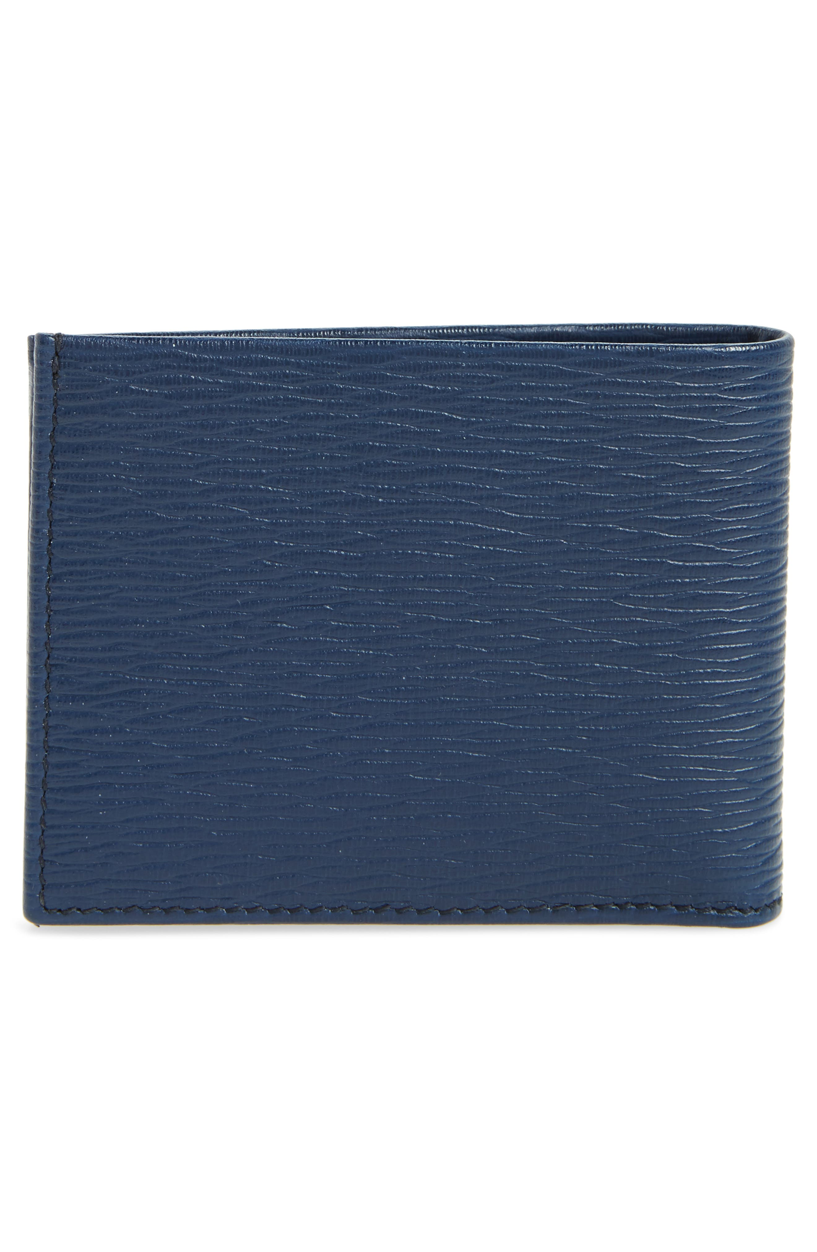 Revival Bifold Leather Wallet,                             Alternate thumbnail 3, color,                             BLUE