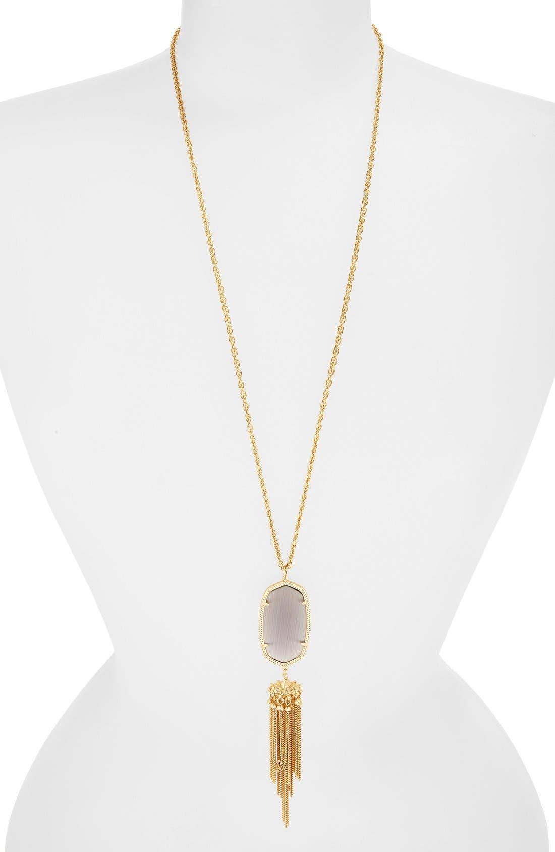 Rayne Stone Tassel Pendant Necklace,                             Main thumbnail 28, color,