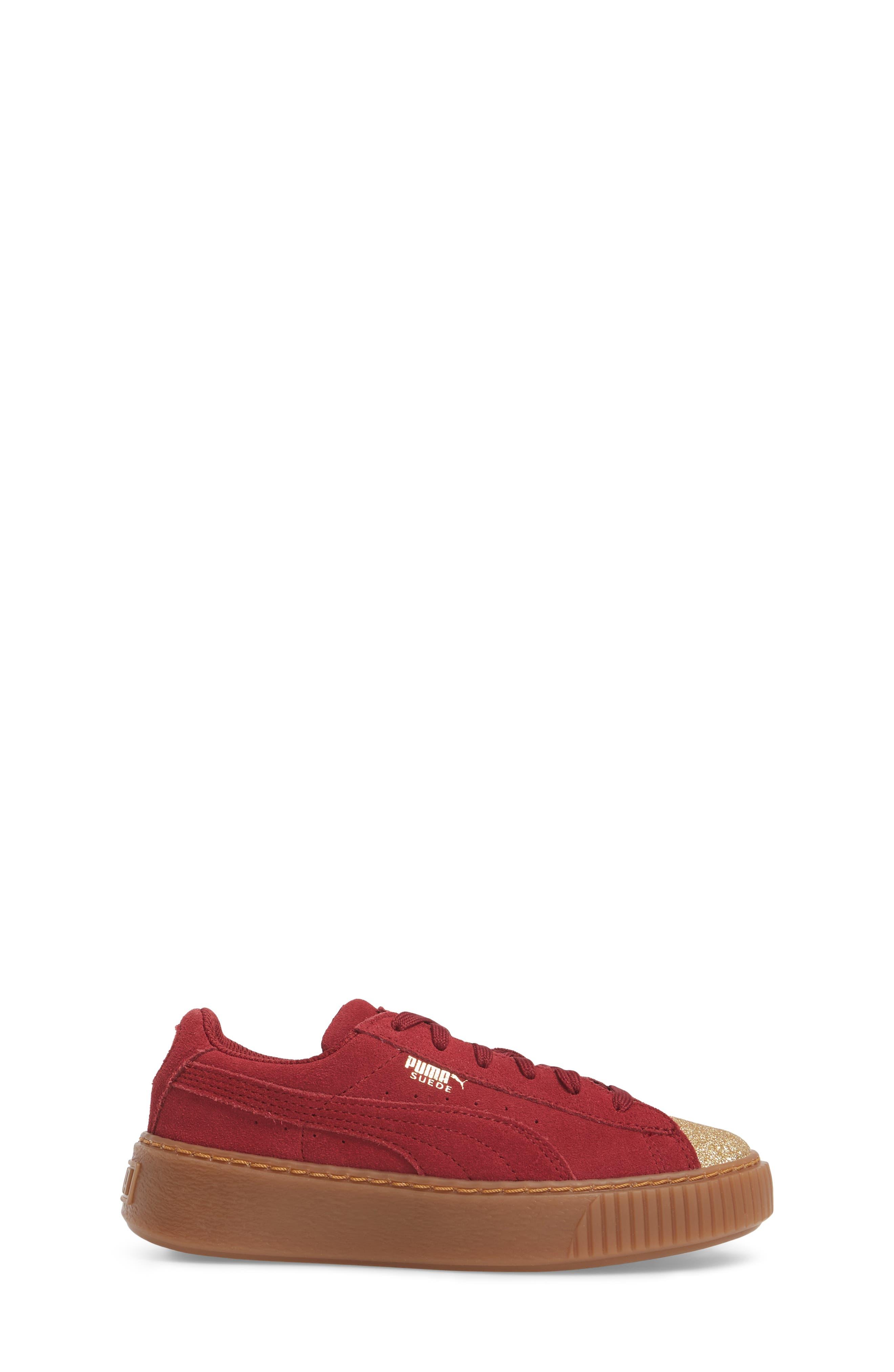 Suede Platform Glam PS Sneaker,                             Alternate thumbnail 15, color,