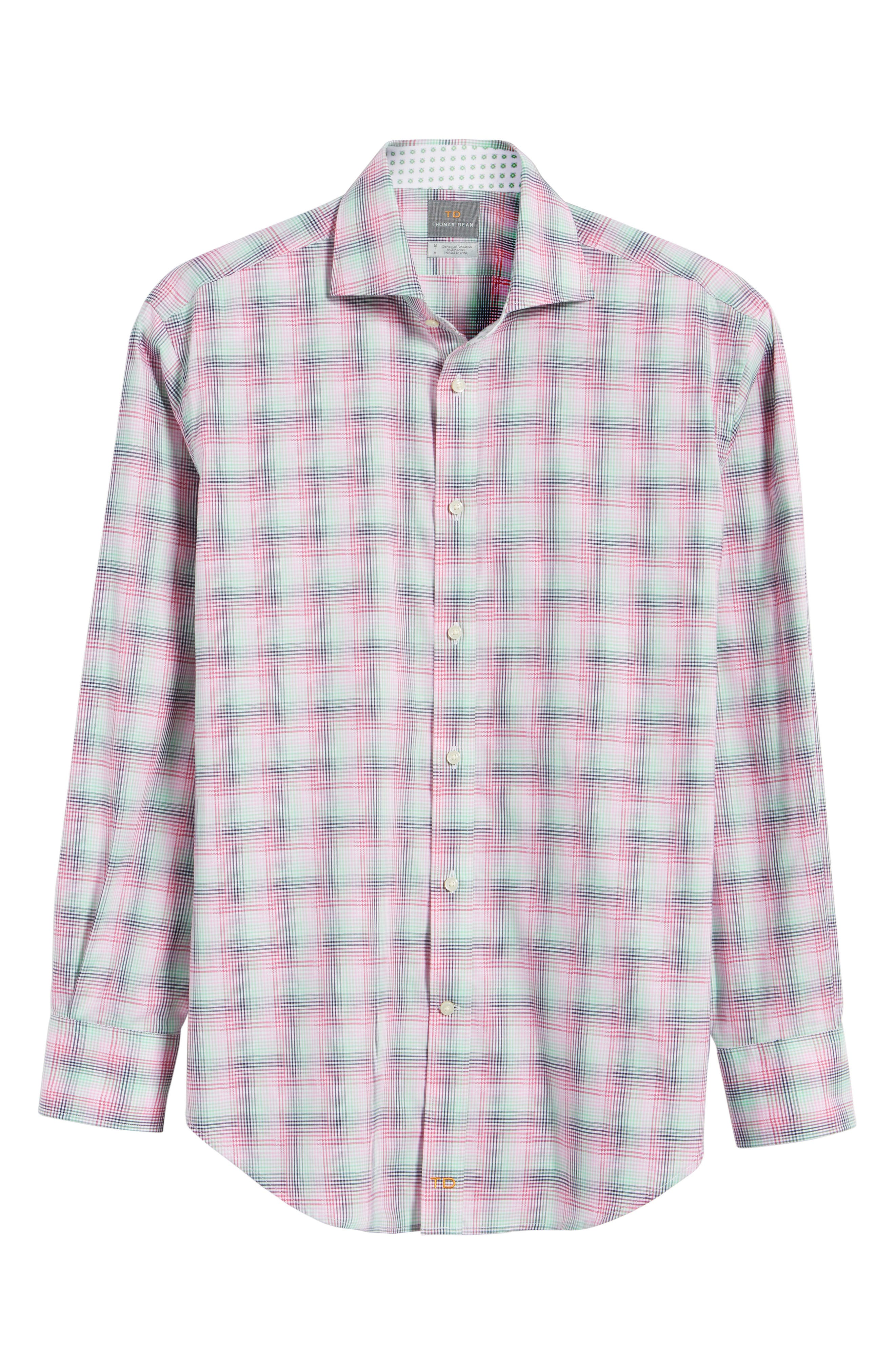 Classic Fit Funky Plaid Sport Shirt,                             Alternate thumbnail 6, color,                             650