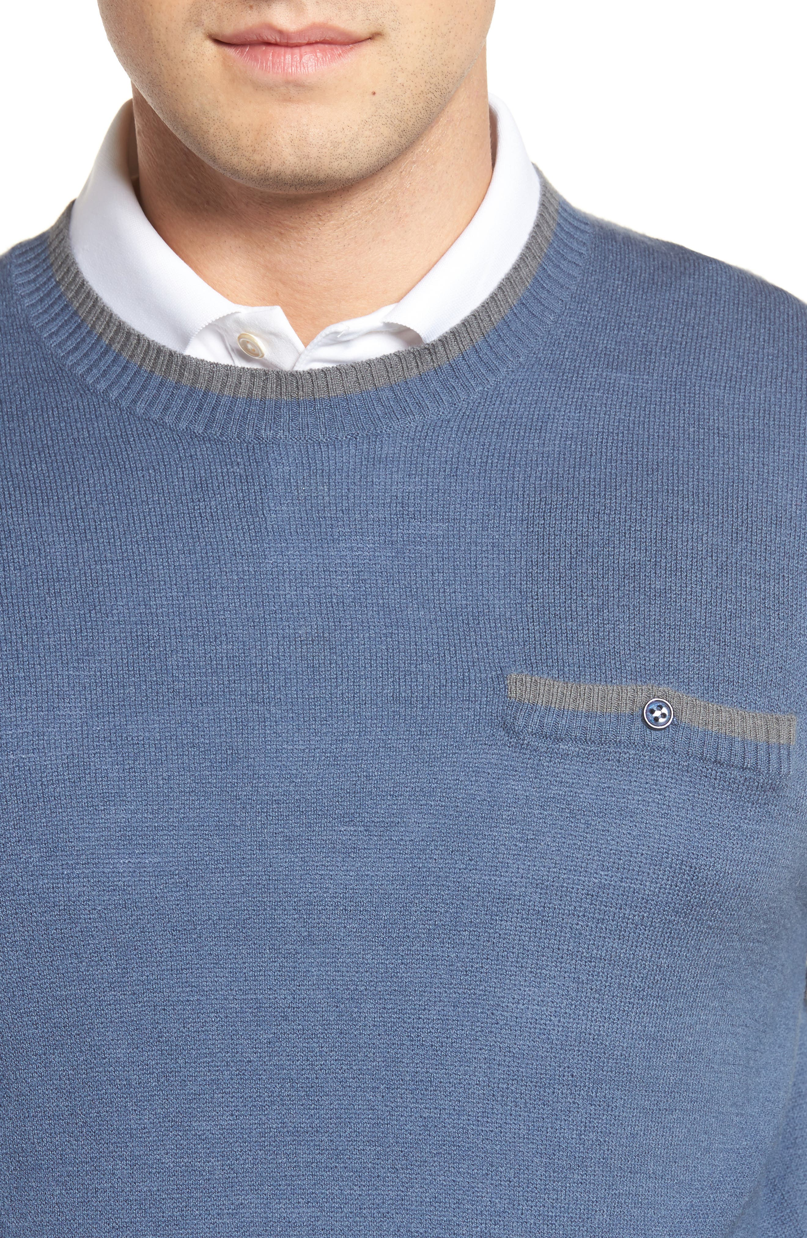 Paglia Wool Blend Sweater,                             Alternate thumbnail 4, color,                             400