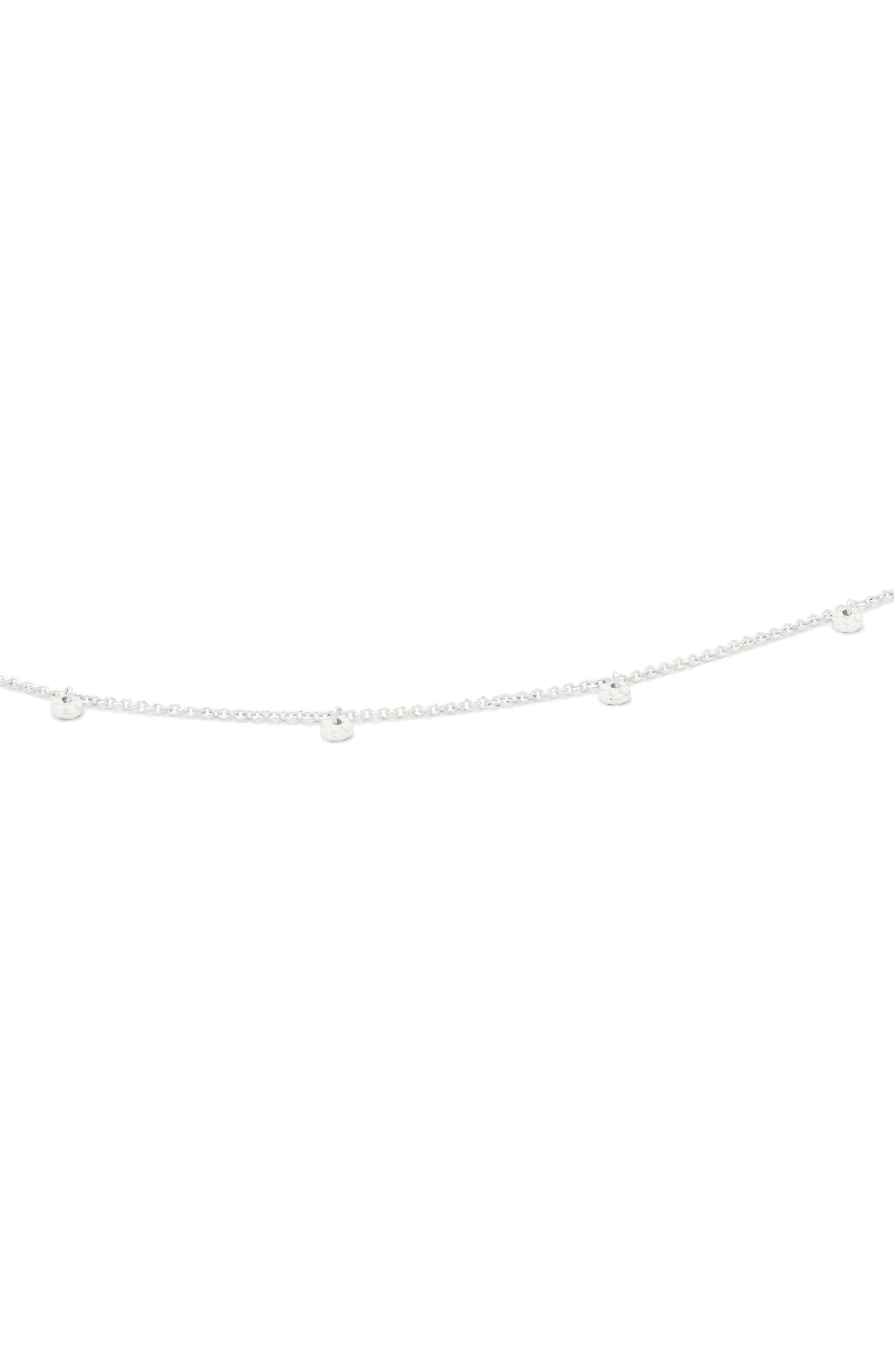 Charm Choker Necklace,                             Alternate thumbnail 3, color,                             SILVER