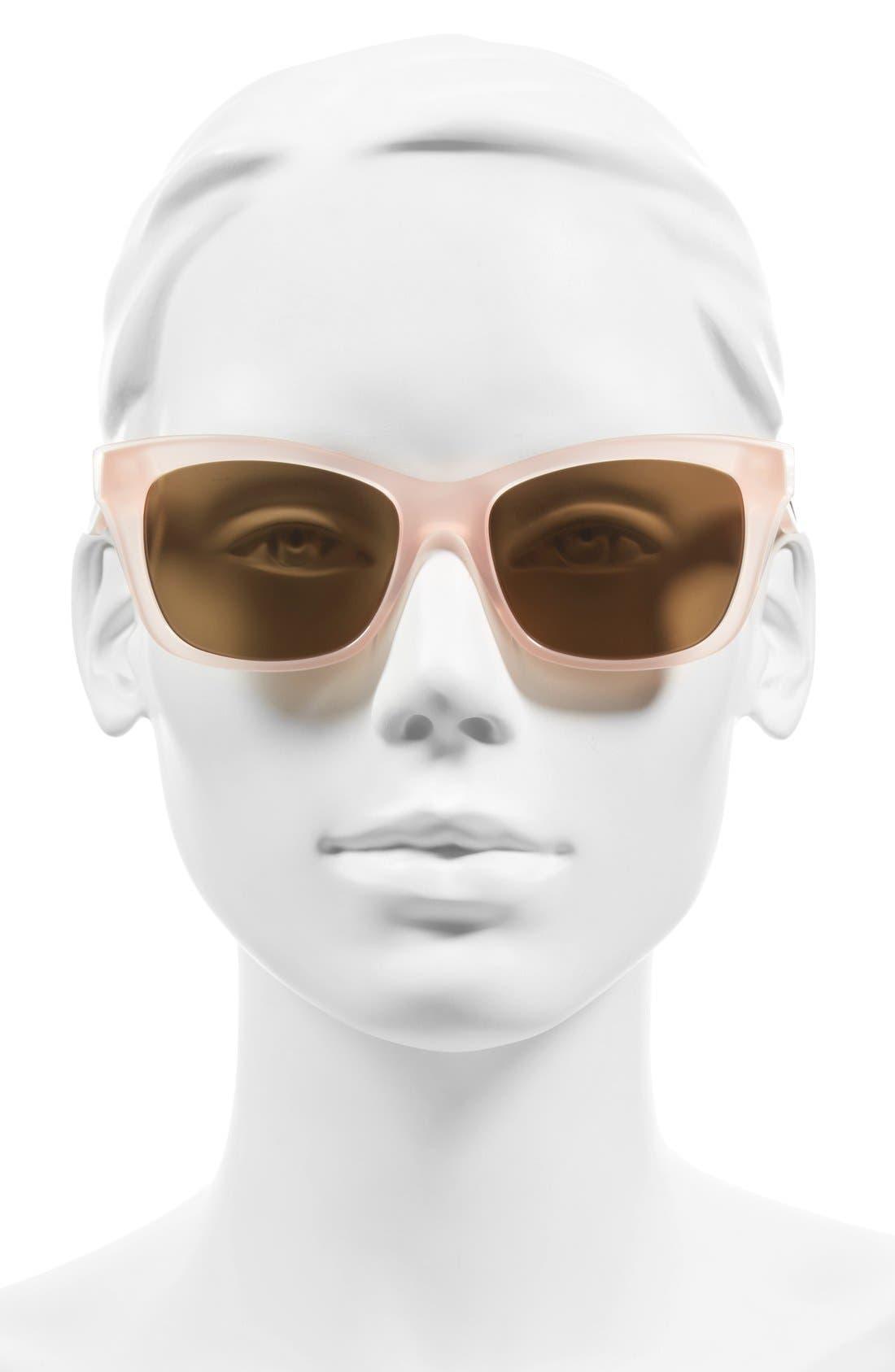 jenae 53mm polarized sunglasses,                             Alternate thumbnail 8, color,