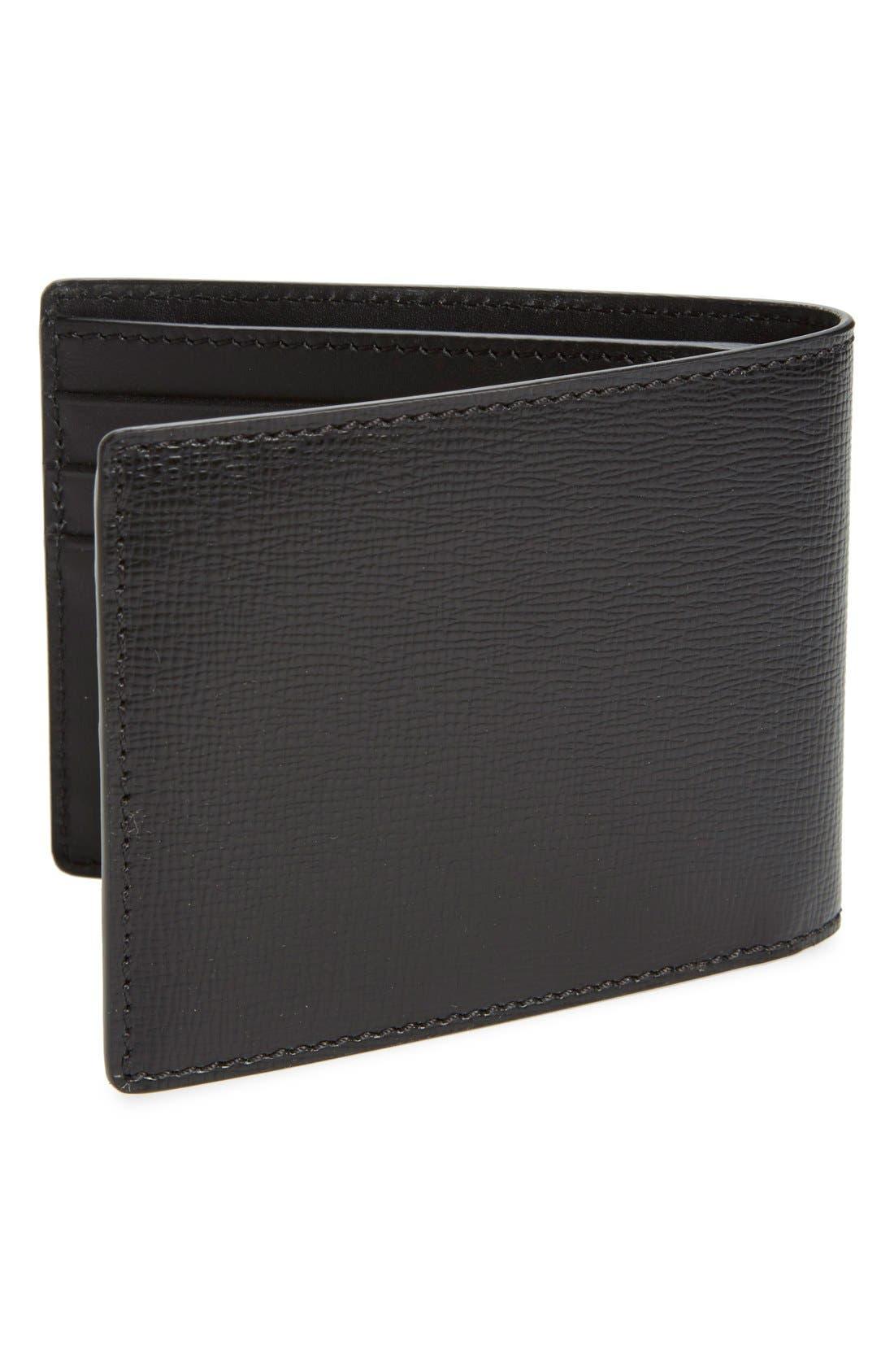 'New London' Calfskin Leather Bifold Wallet,                             Alternate thumbnail 2, color,                             001