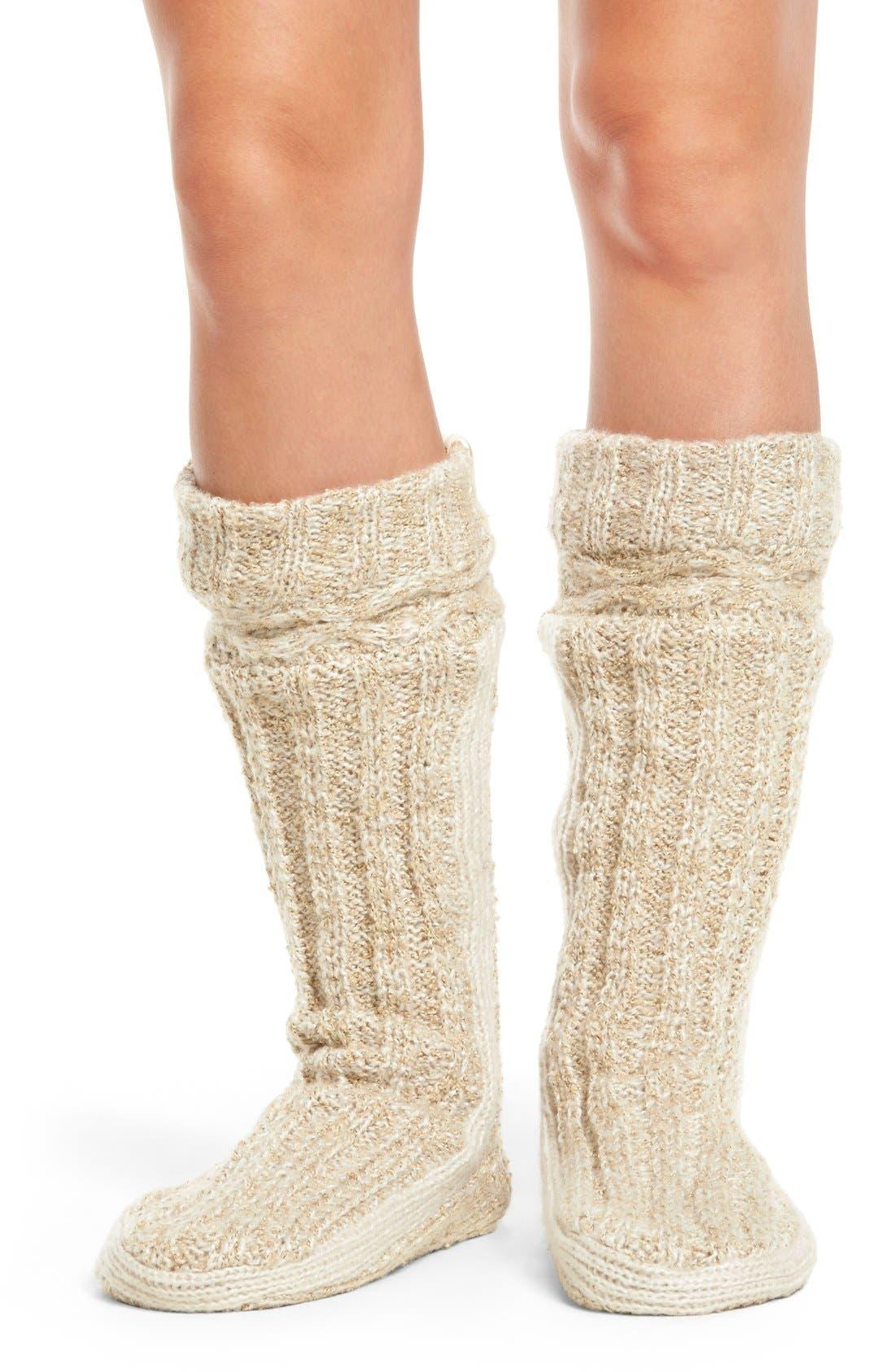 URBAN KNIT Bootie Slipper Socks, Main, color, 280