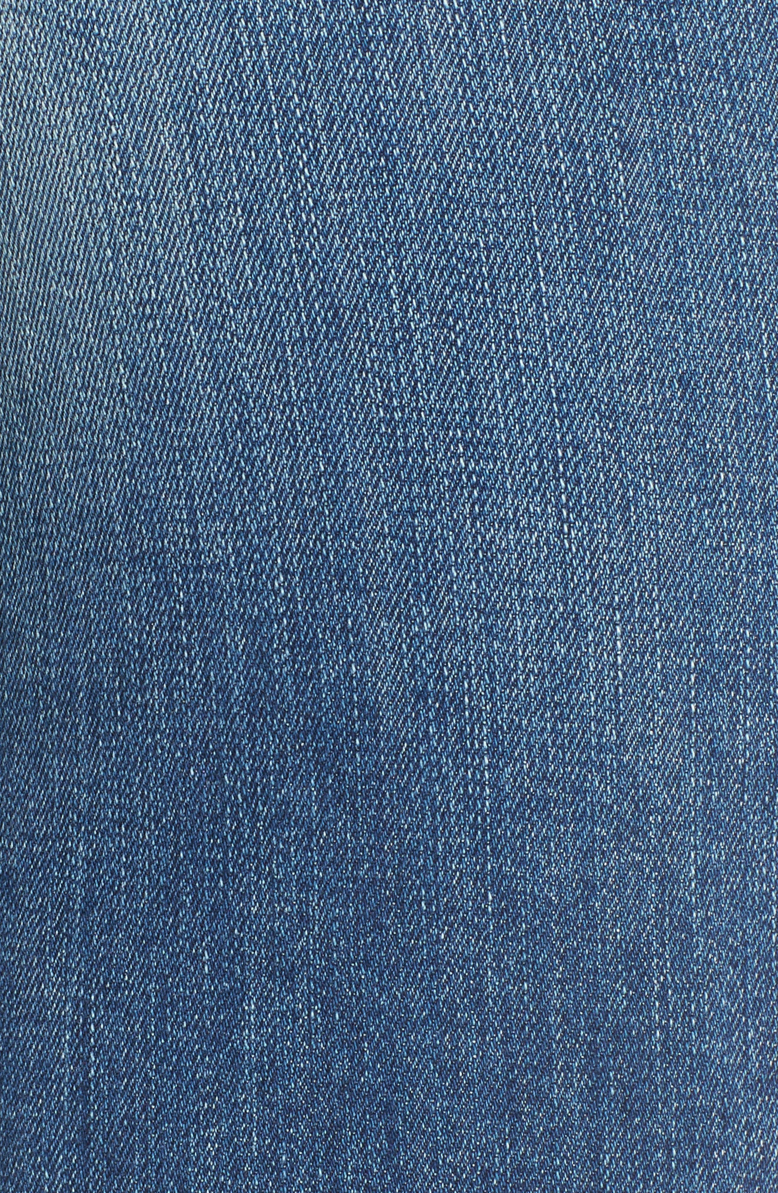Windsor Destroyed High Waist Straight Leg Jeans,                             Alternate thumbnail 10, color,