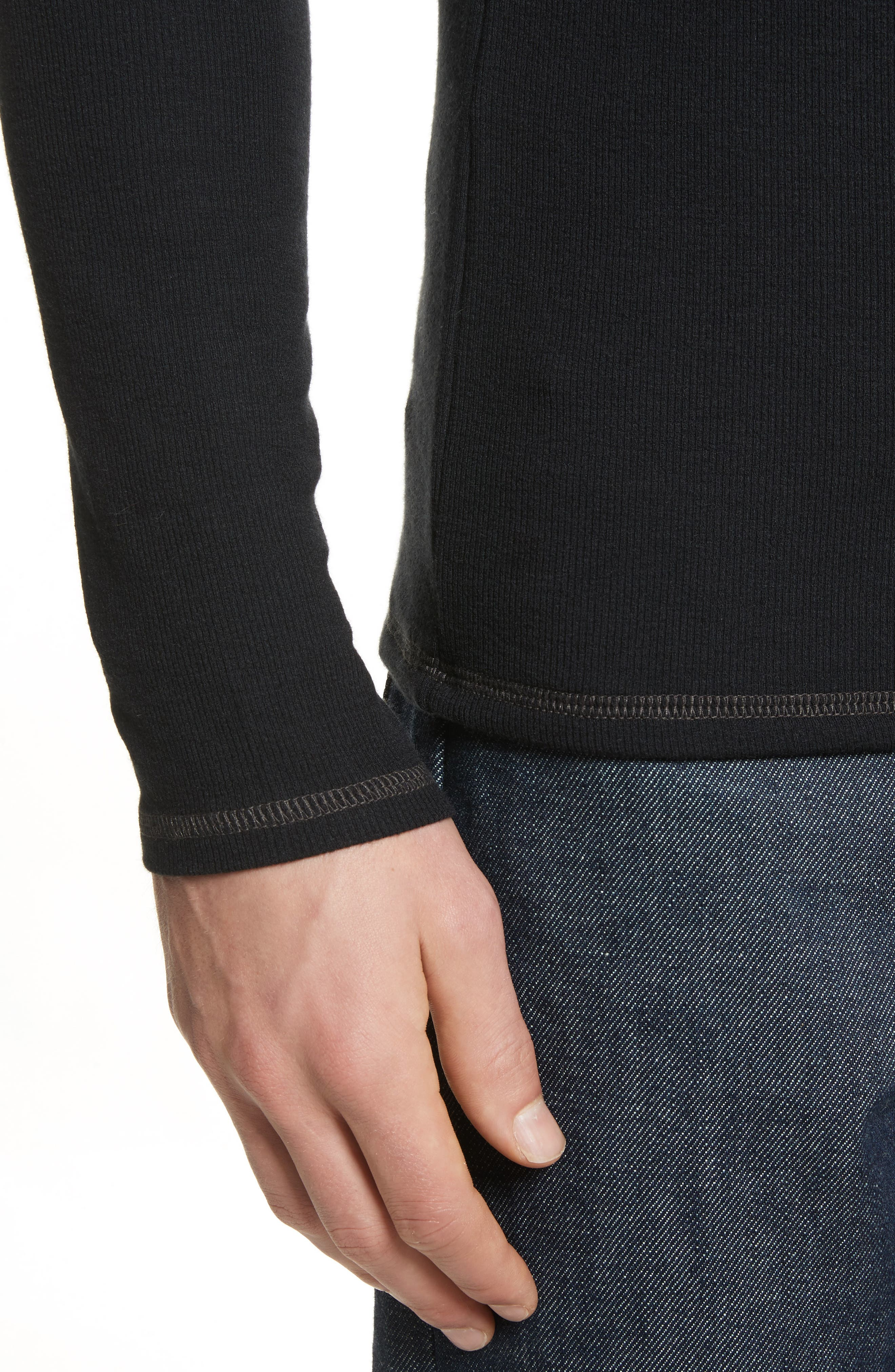Rib Modal Crewneck Sweater,                             Alternate thumbnail 7, color,