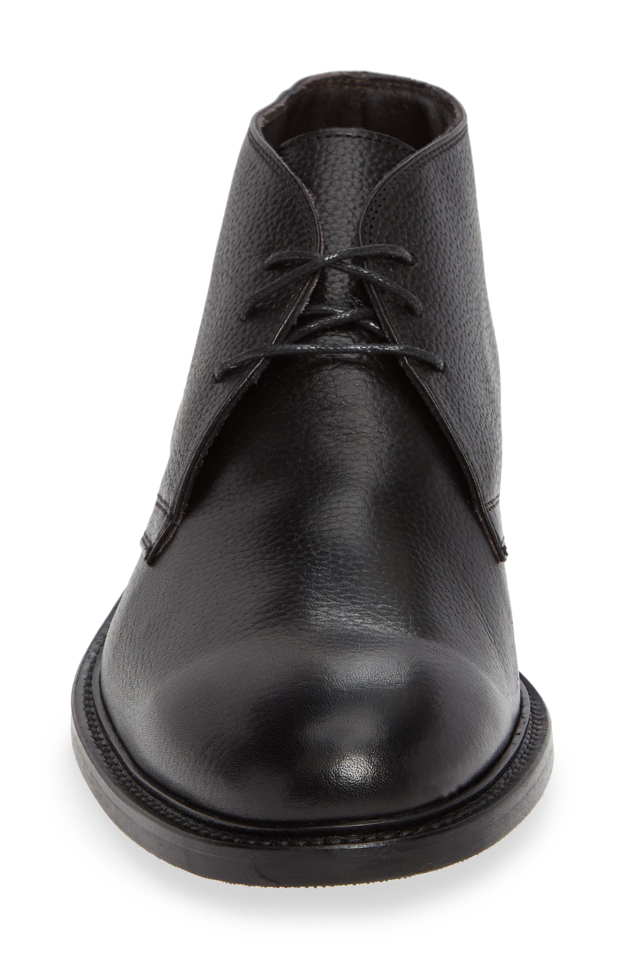 Bruin Plain Toe Chukka Boot,                             Alternate thumbnail 4, color,                             VITELLO STOMPA NERO LEATHER