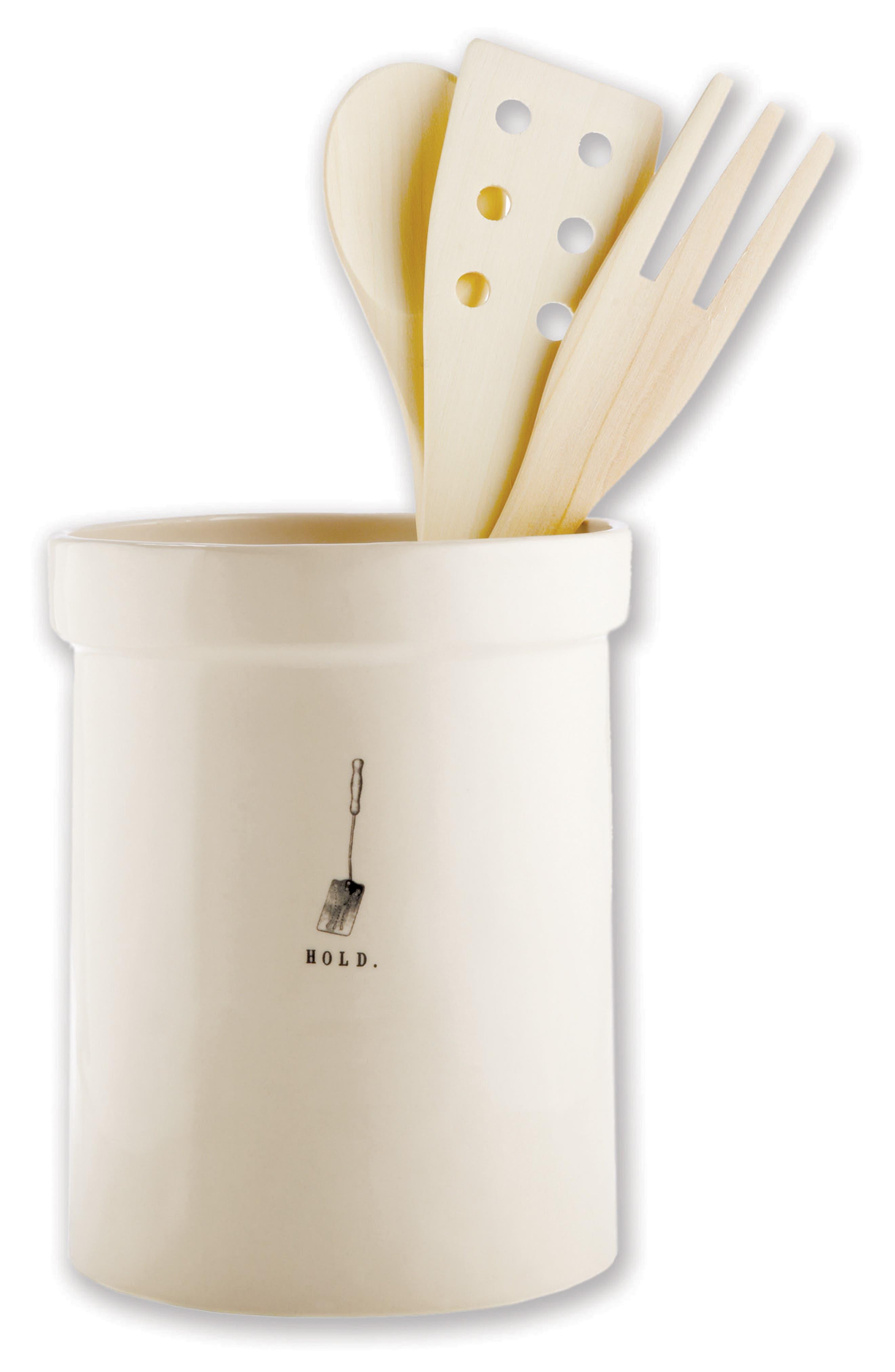 Rae Dun Ceramic Utensil Holder,                         Main,                         color, 100