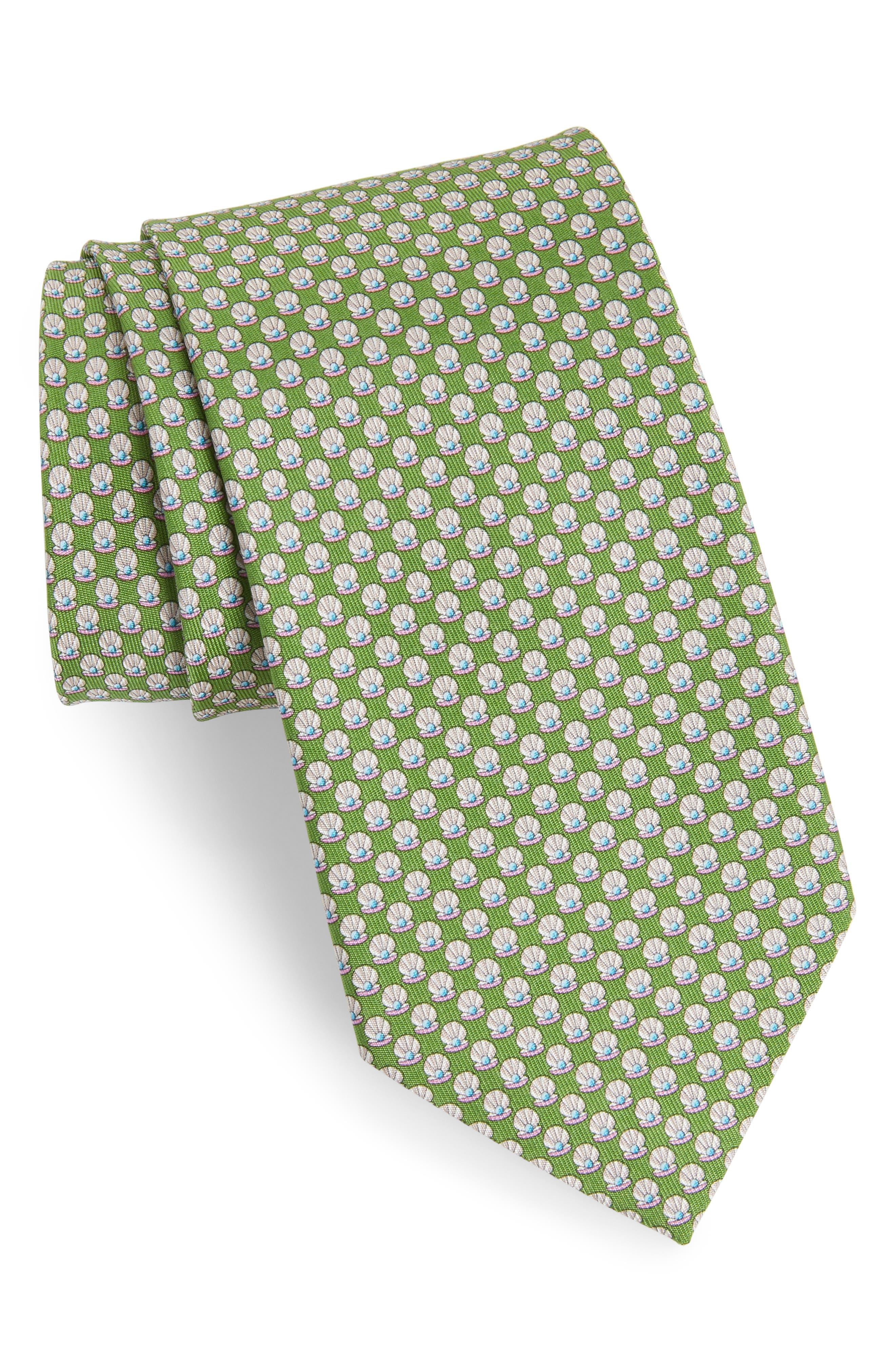 Ematite Print Silk Tie,                         Main,                         color, 395