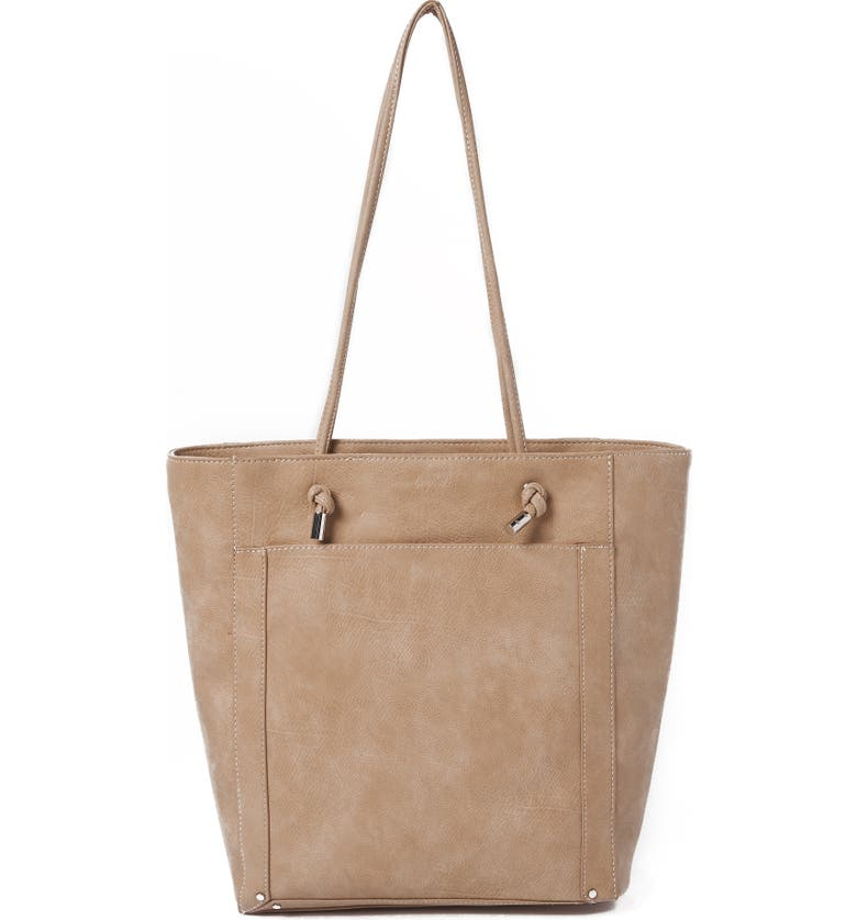 Urban Originals CENTURY VEGAN LEATHER TOTE - BEIGE
