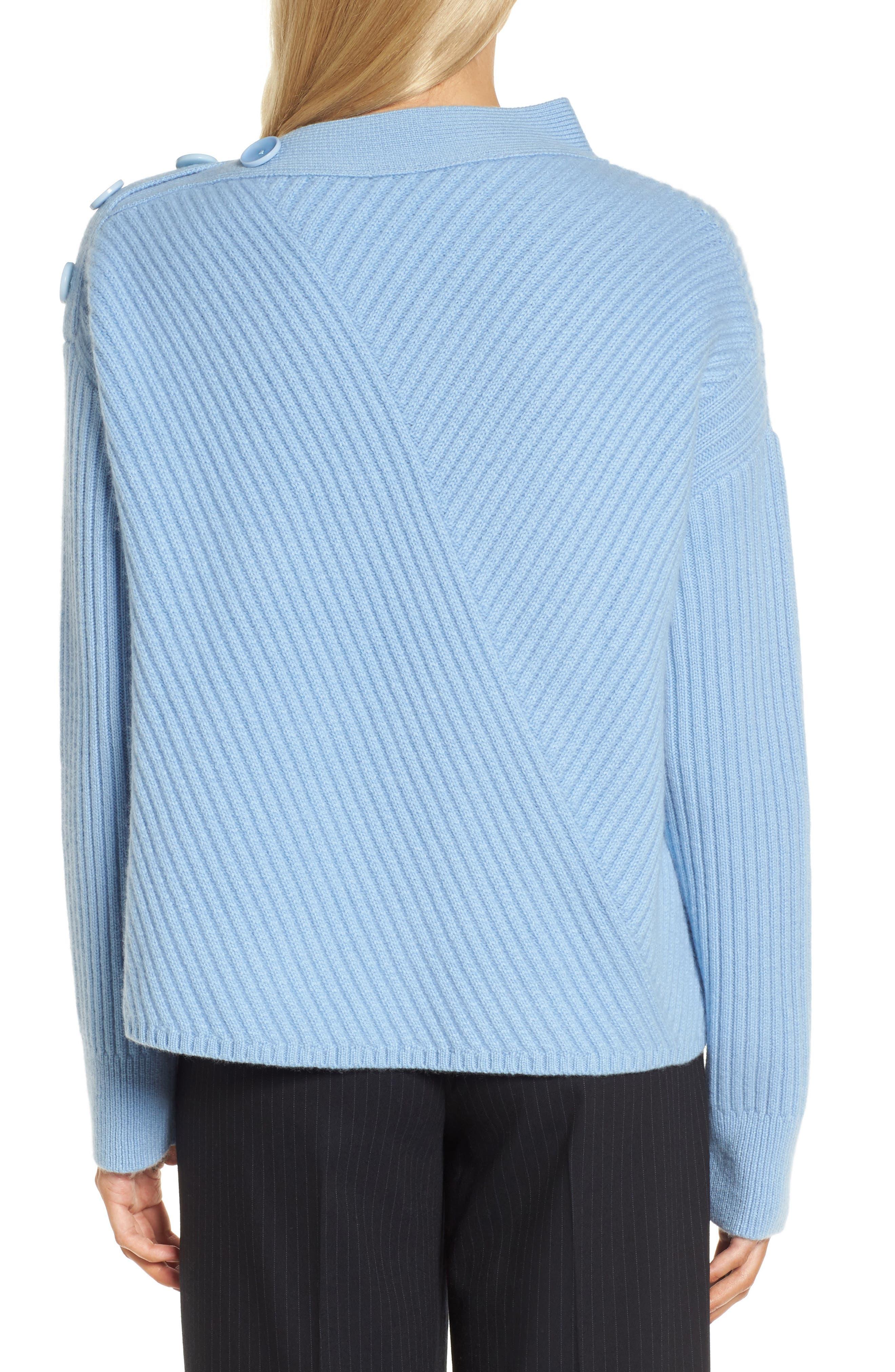 Bateau Neck Button Detail Cashmere Pullover,                             Alternate thumbnail 2, color,                             420