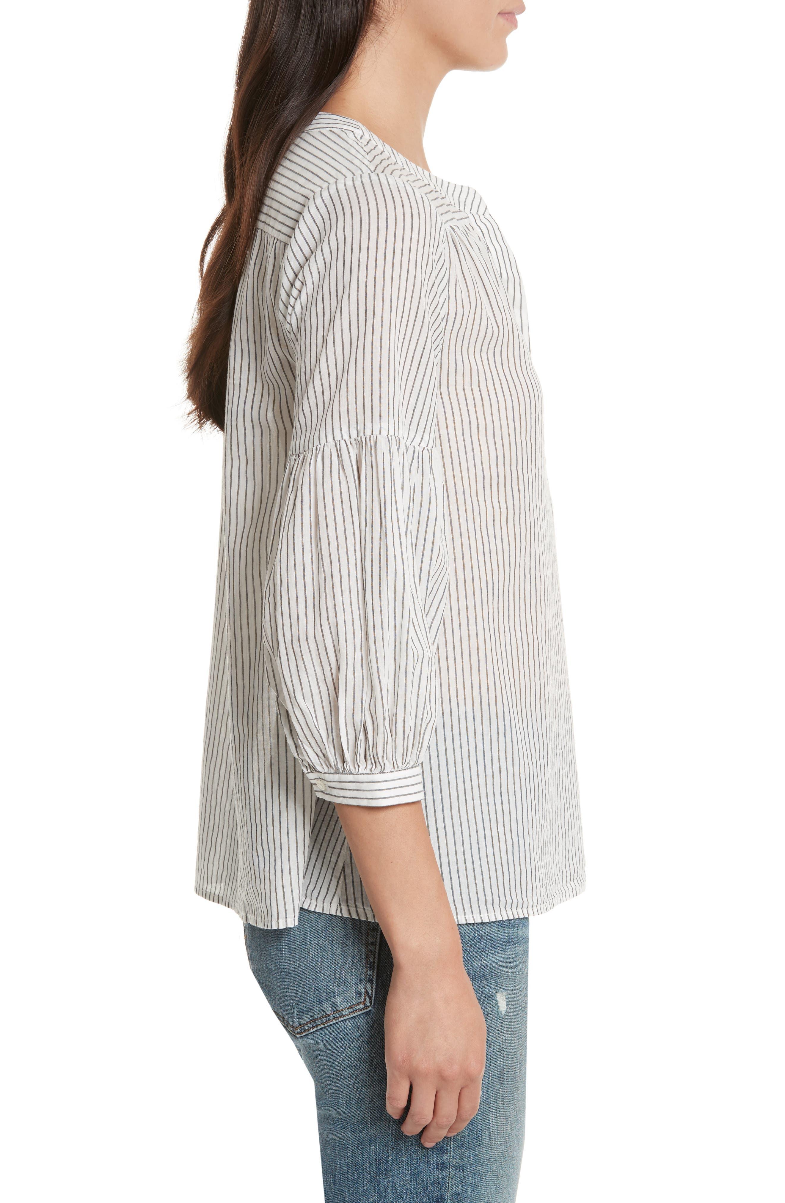 Aldys Stripe Cotton Top,                             Alternate thumbnail 3, color,                             114