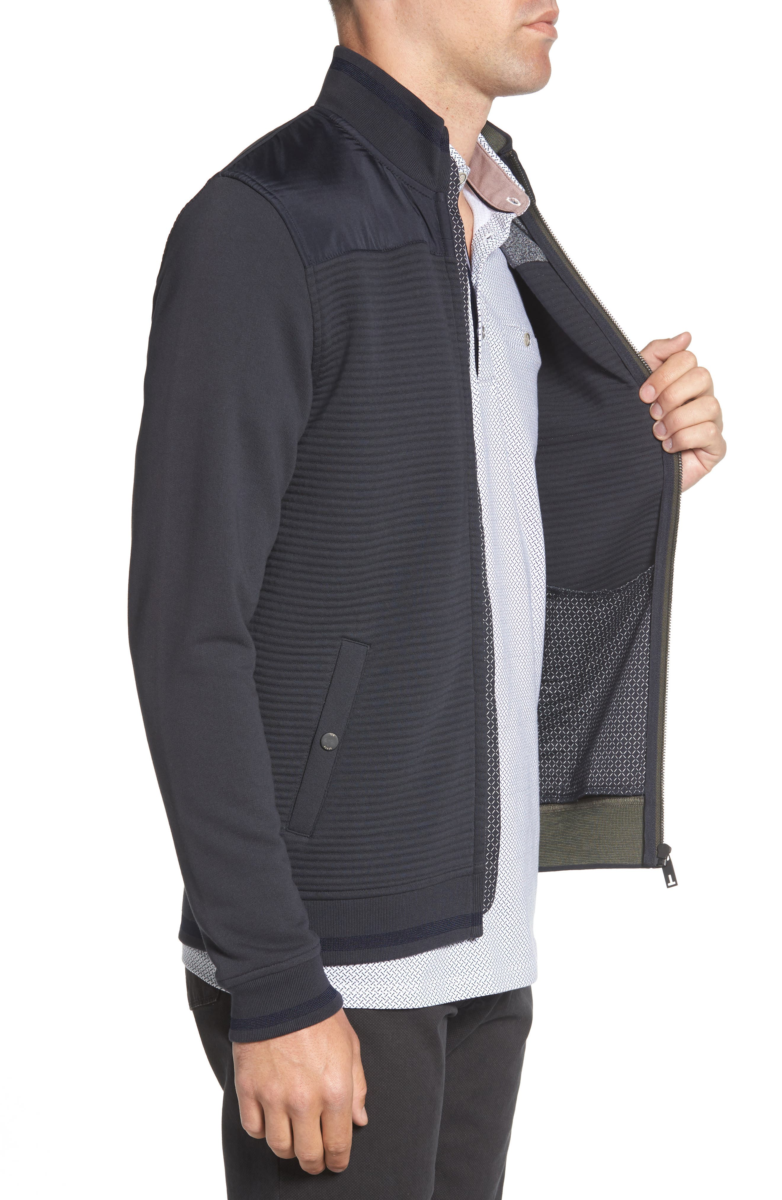 Sardin Quilted Jacket,                             Alternate thumbnail 3, color,                             NAVY