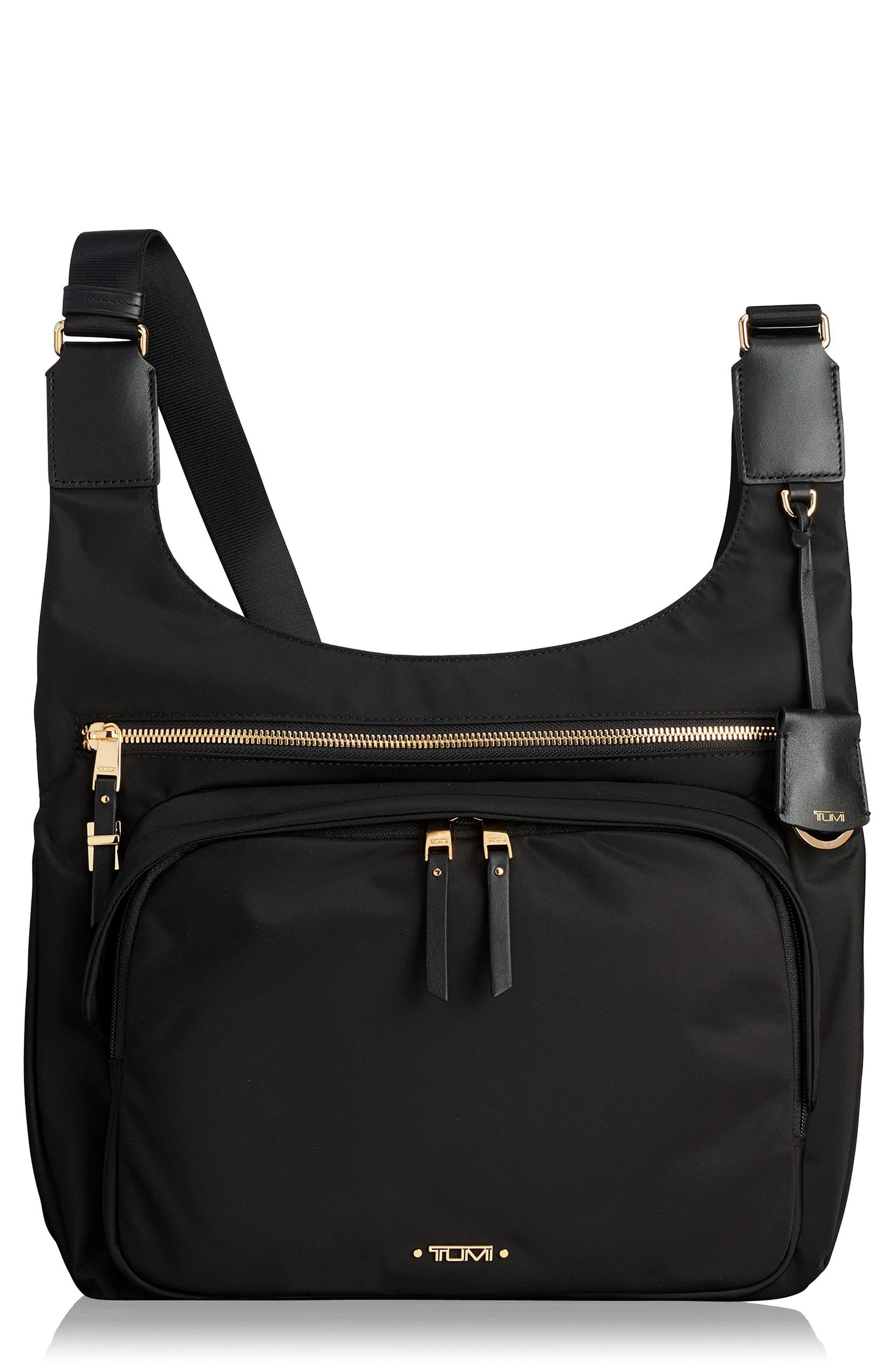 Voyager - Siam Nylon Crossbody Bag,                         Main,                         color, BLACK