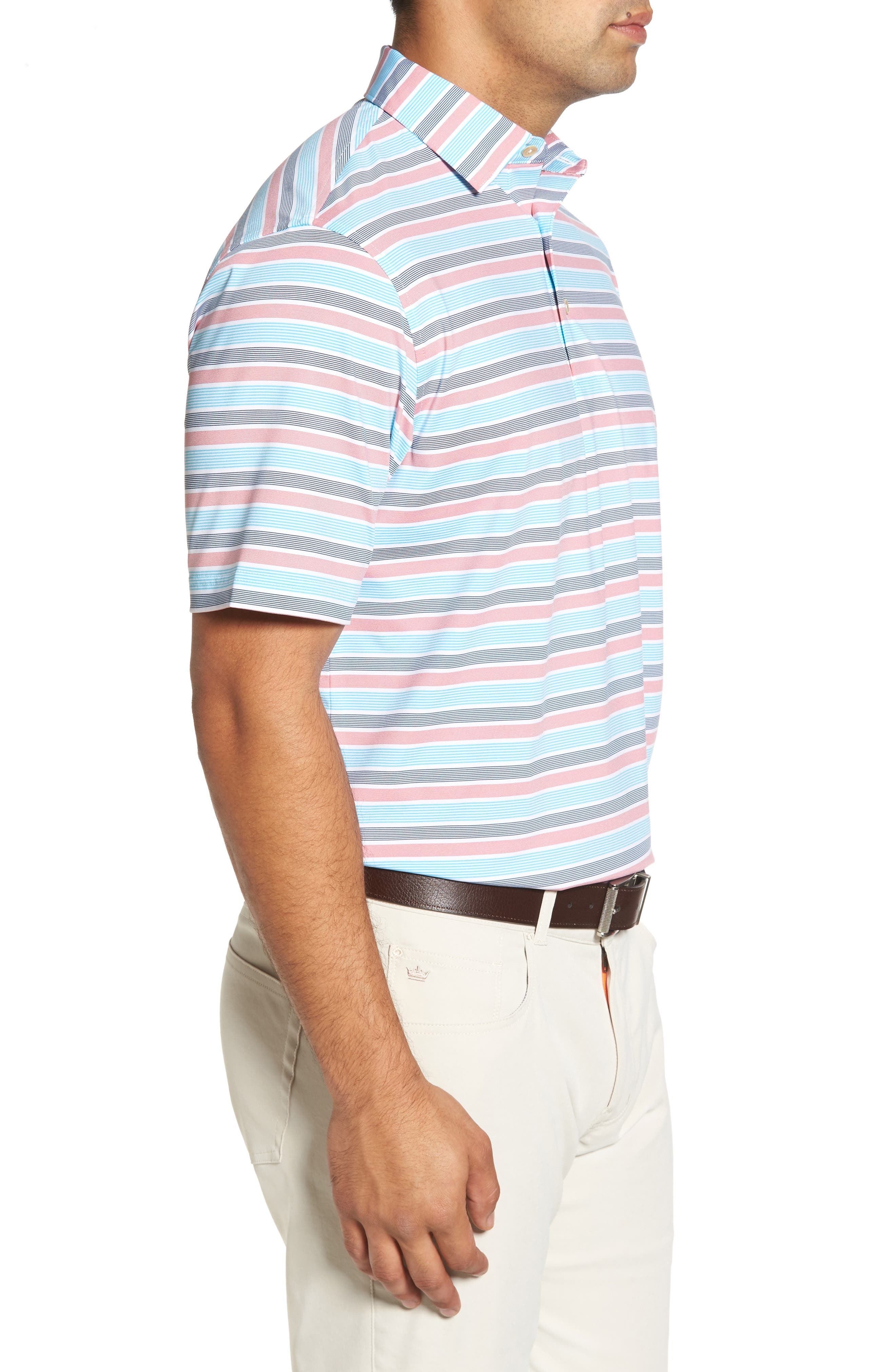 Blount Stripe Stretch Jersey Polo,                             Alternate thumbnail 6, color,