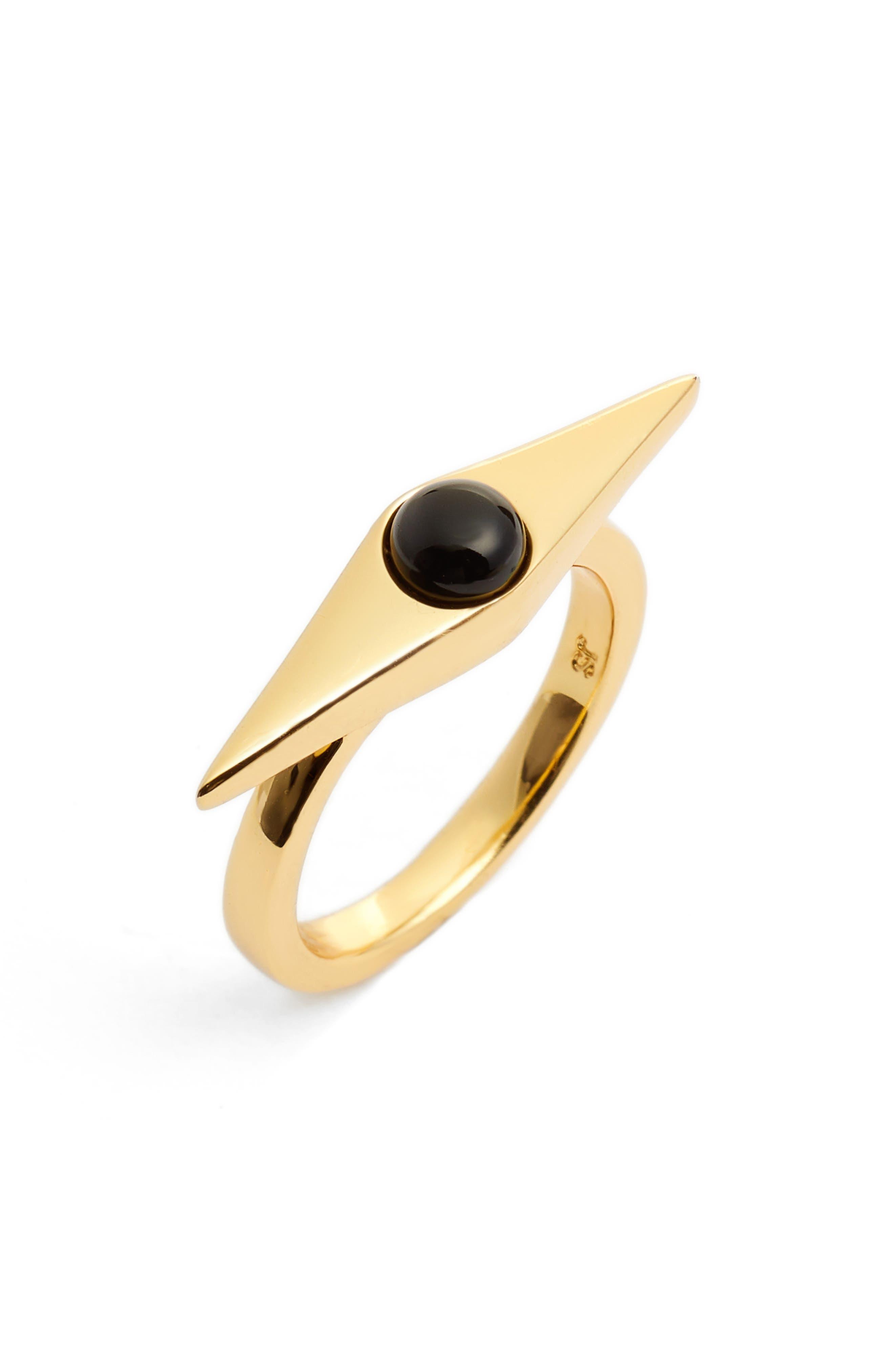 Virtue Ring,                             Main thumbnail 1, color,                             GOLD/ BLACK