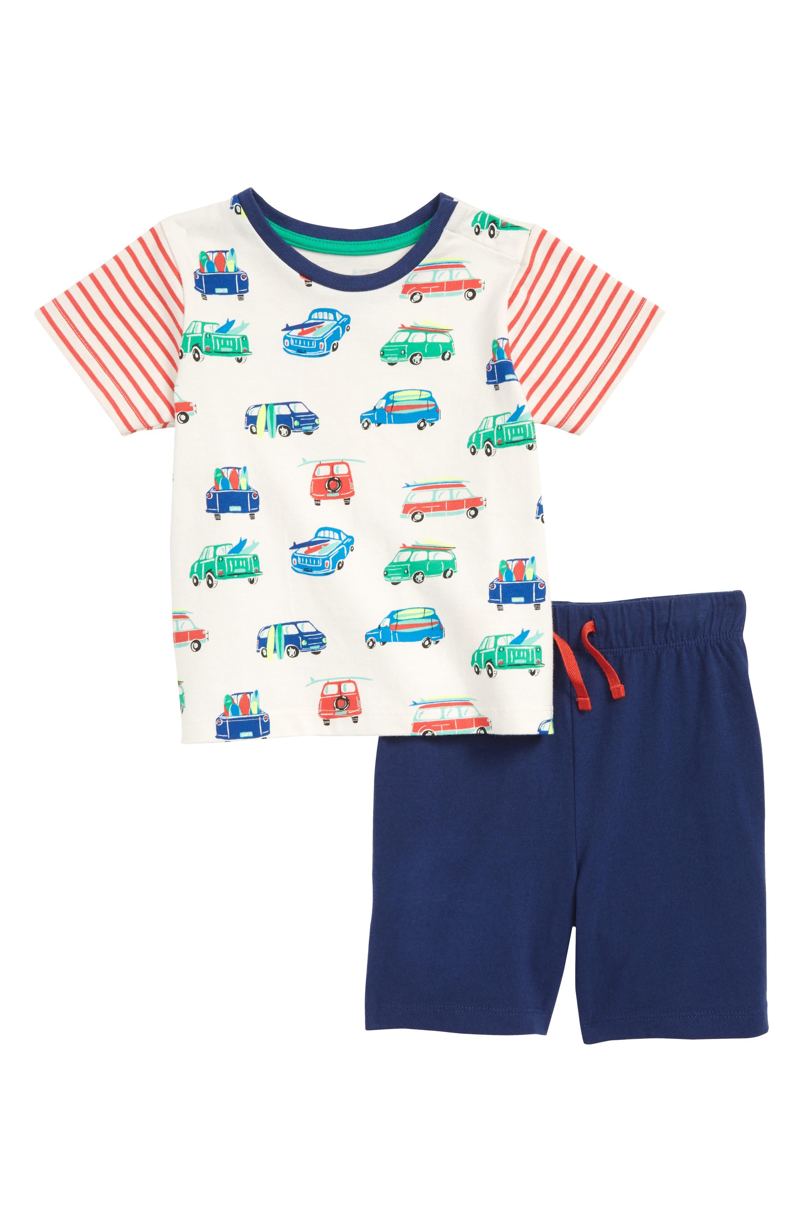 Fun Jersey T-Shirt & Shorts Set,                         Main,                         color, 902