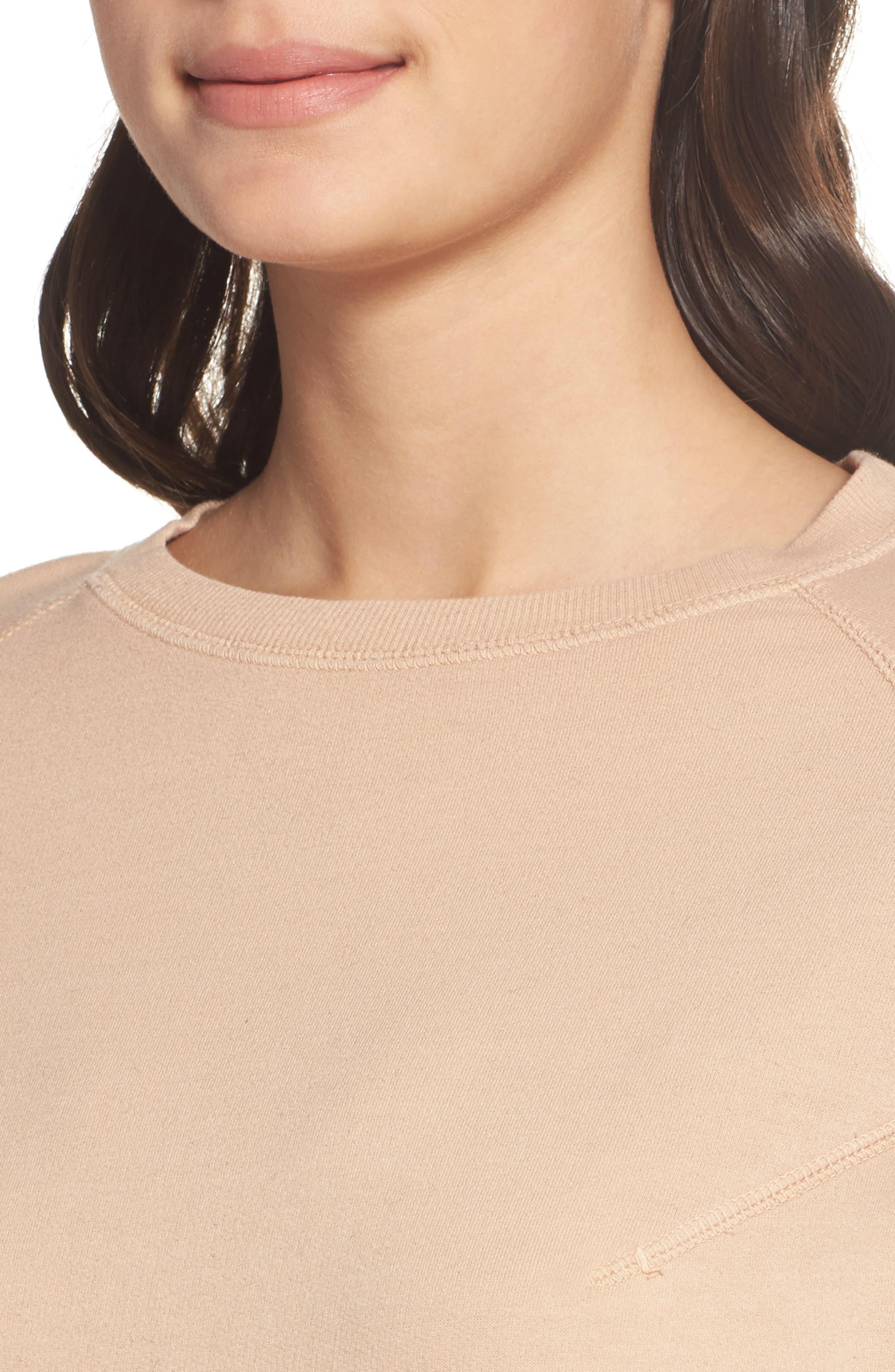 Sweatshirt Dress,                             Alternate thumbnail 4, color,                             950