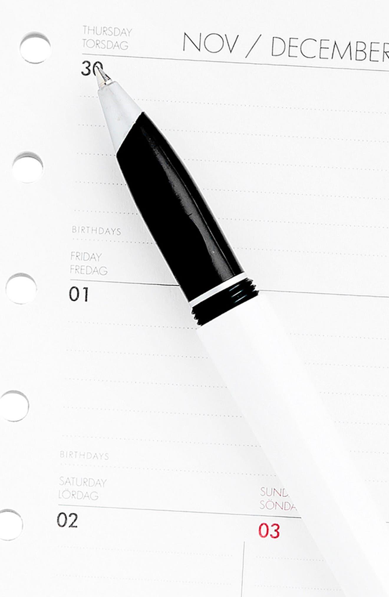 2018 Small Planner Refill Pack,                             Alternate thumbnail 3, color,                             WHITE